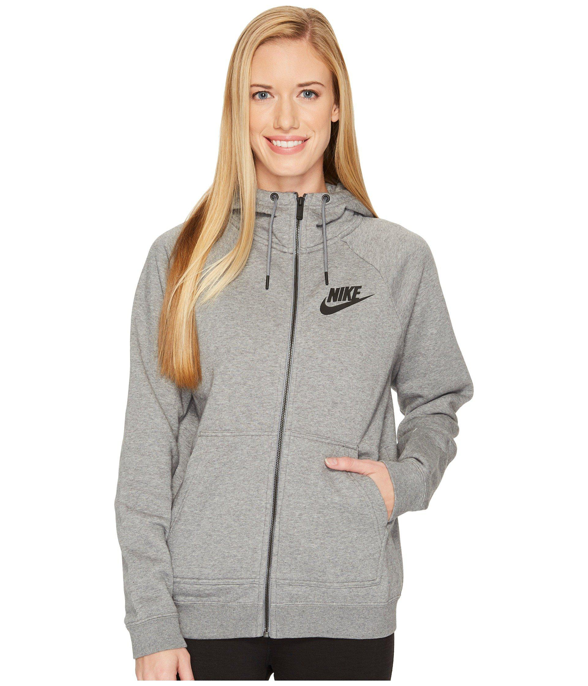 6205f39f1d6bb Lyst - Nike Sportswear Rally Full Zip Hoodie in Gray