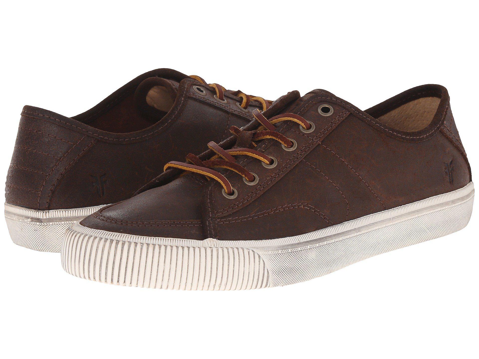 Frye Mens Brown Grand Low Lace Fashion Sneaker