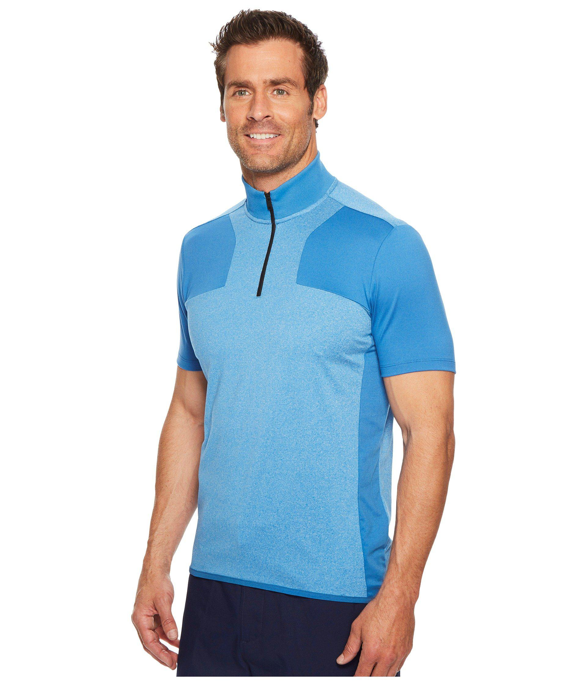 dae0b5c7a3 Lyst - Perry Ellis Pe360 Active Color Block Zip Polo in Blue for Men - Save  44.89795918367347%