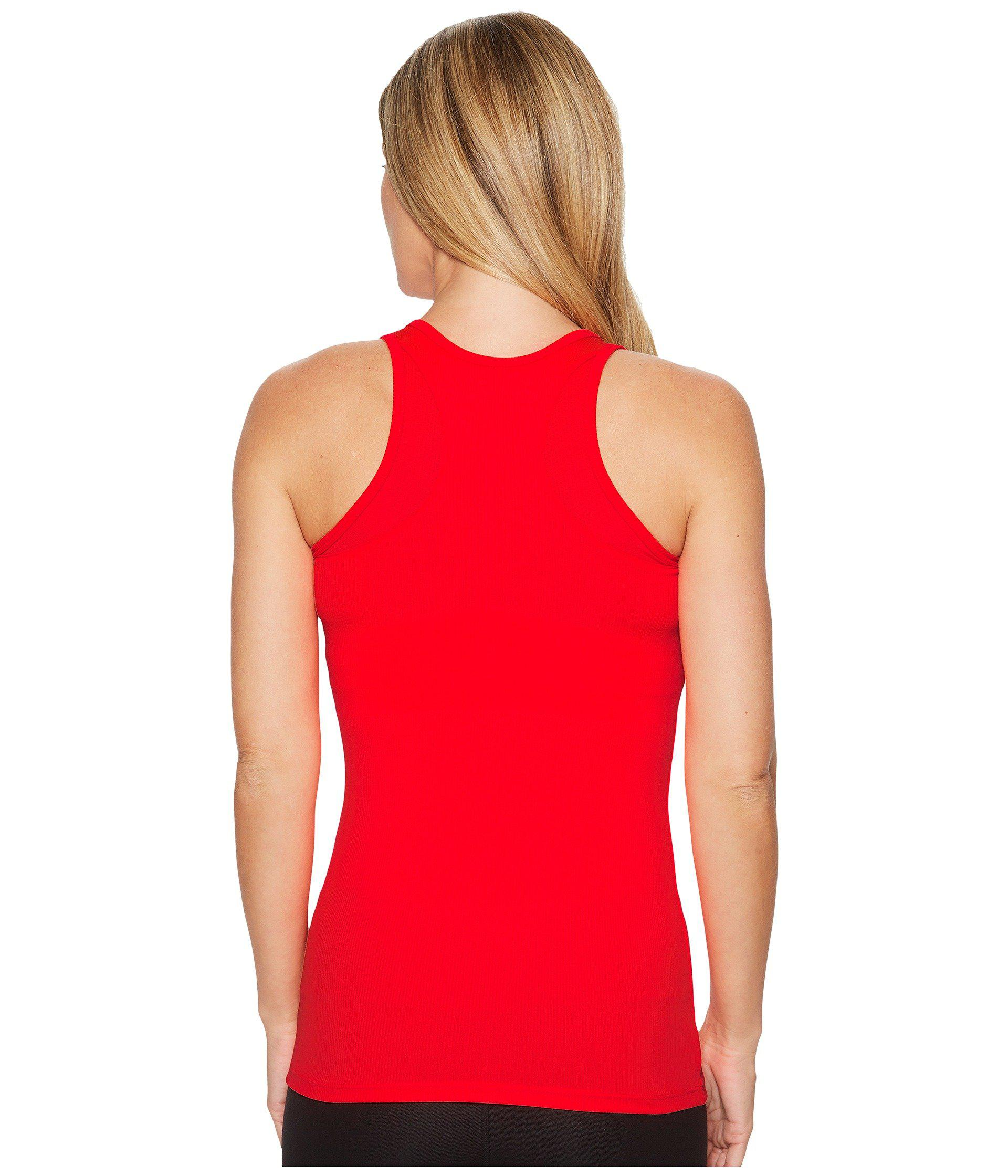 6a116d82efaba Lyst - Under Armour Tech Victory Tank Top in Red