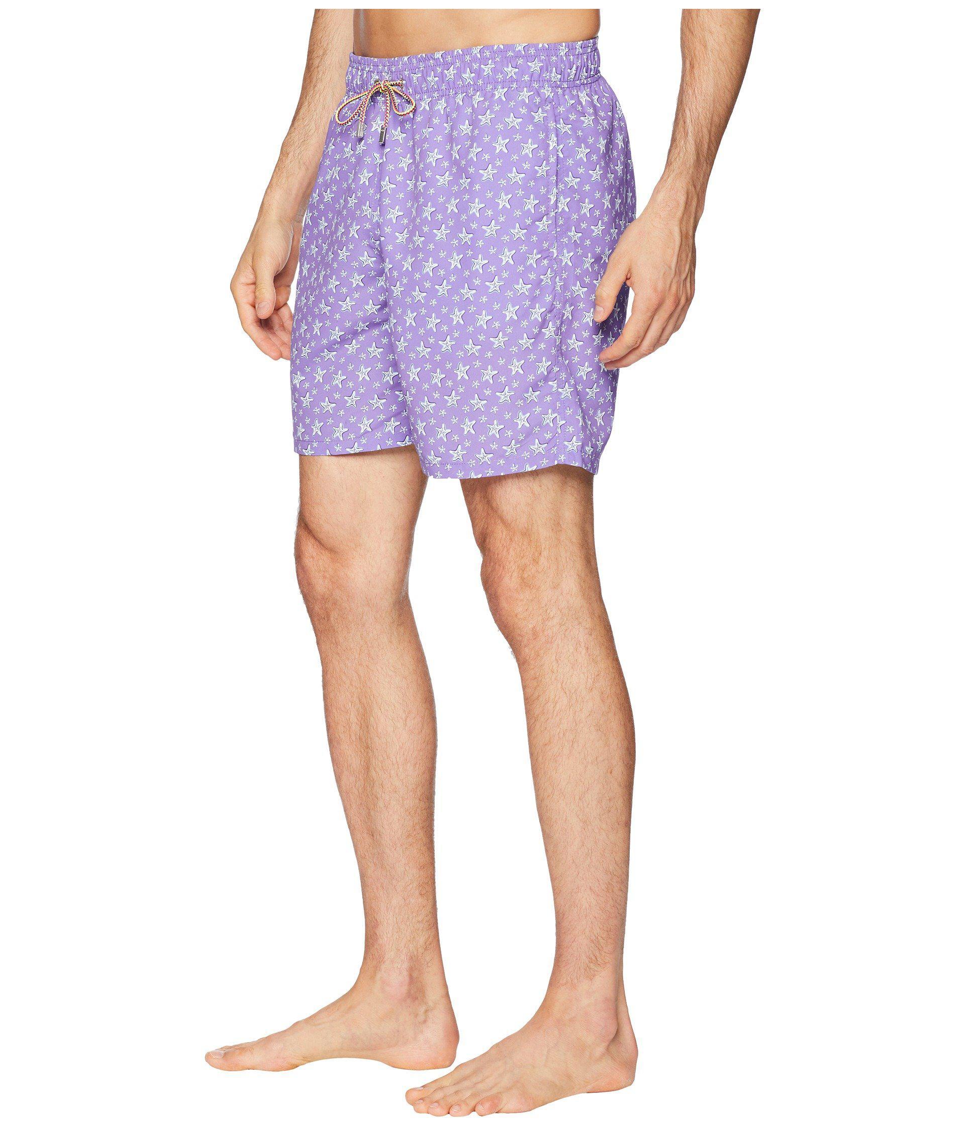deb00fdedd Lyst - Bugatchi Starfish Toss Swim Trunk in Purple for Men - Save 21%