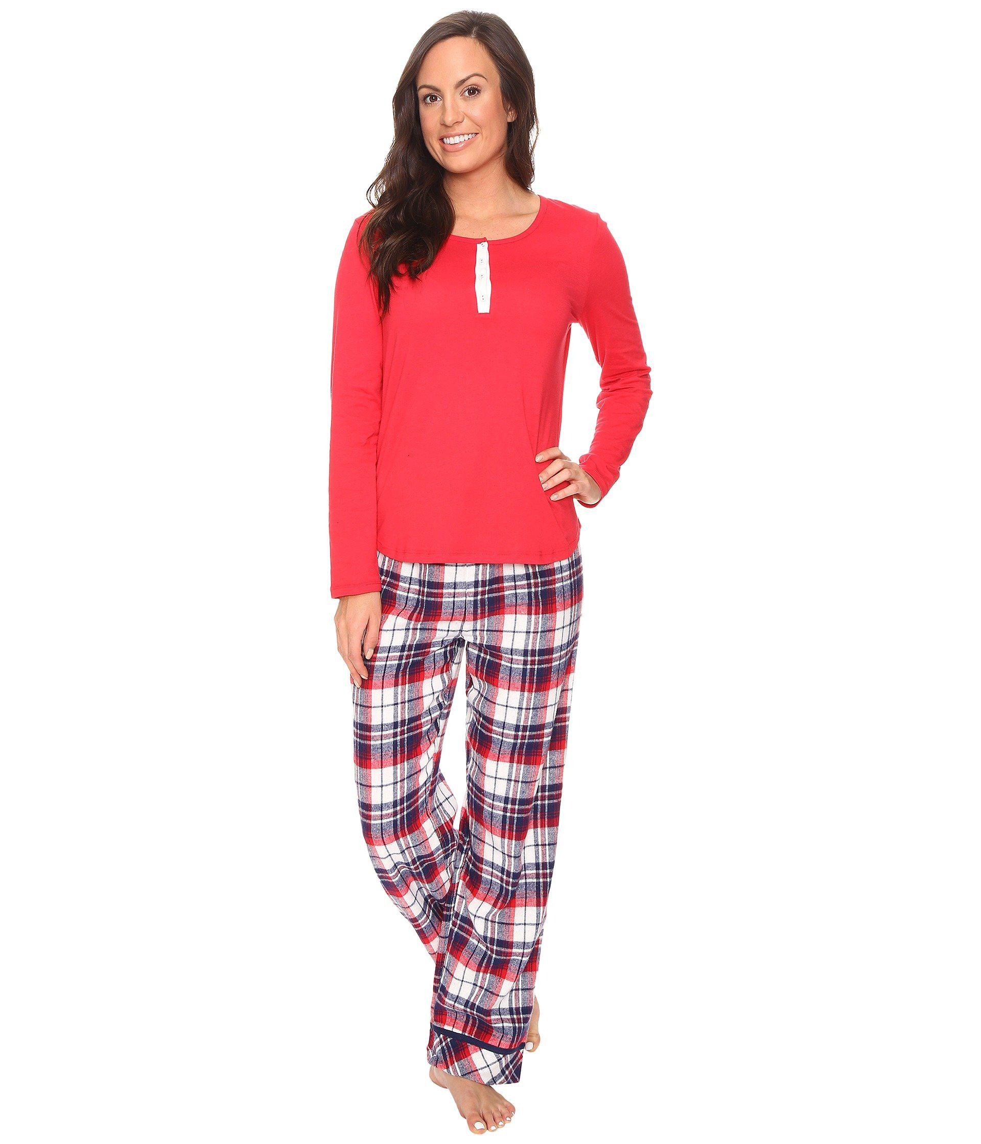 Lyst - Jockey Flannel Pant Pajama Set in Red 0df201a86