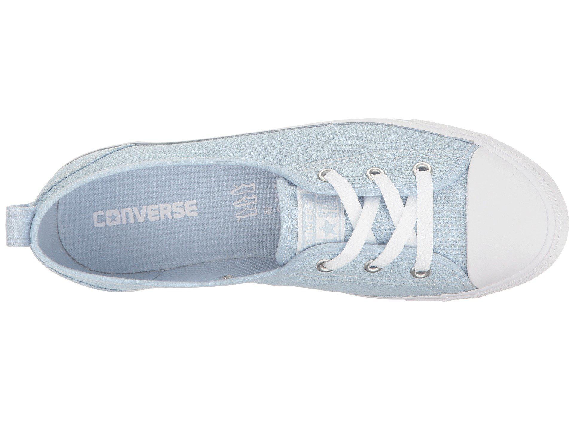Lyst - Converse Chuck Taylor® All Star® Ballet Lace Micro Dot Slip ... 8d75c5346