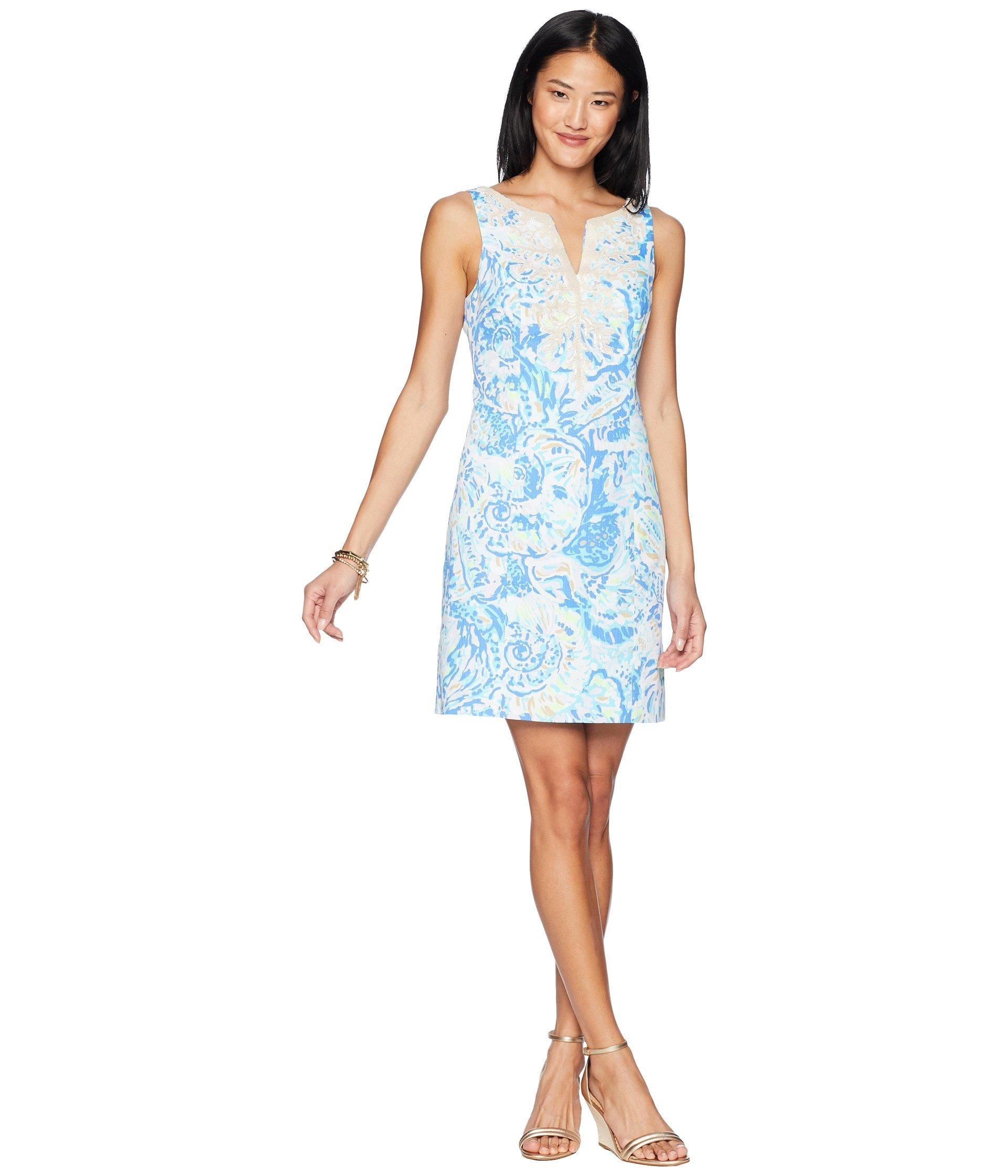 e56dca20c95b Lilly Pulitzer Gabby Shift Dress in Blue - Lyst