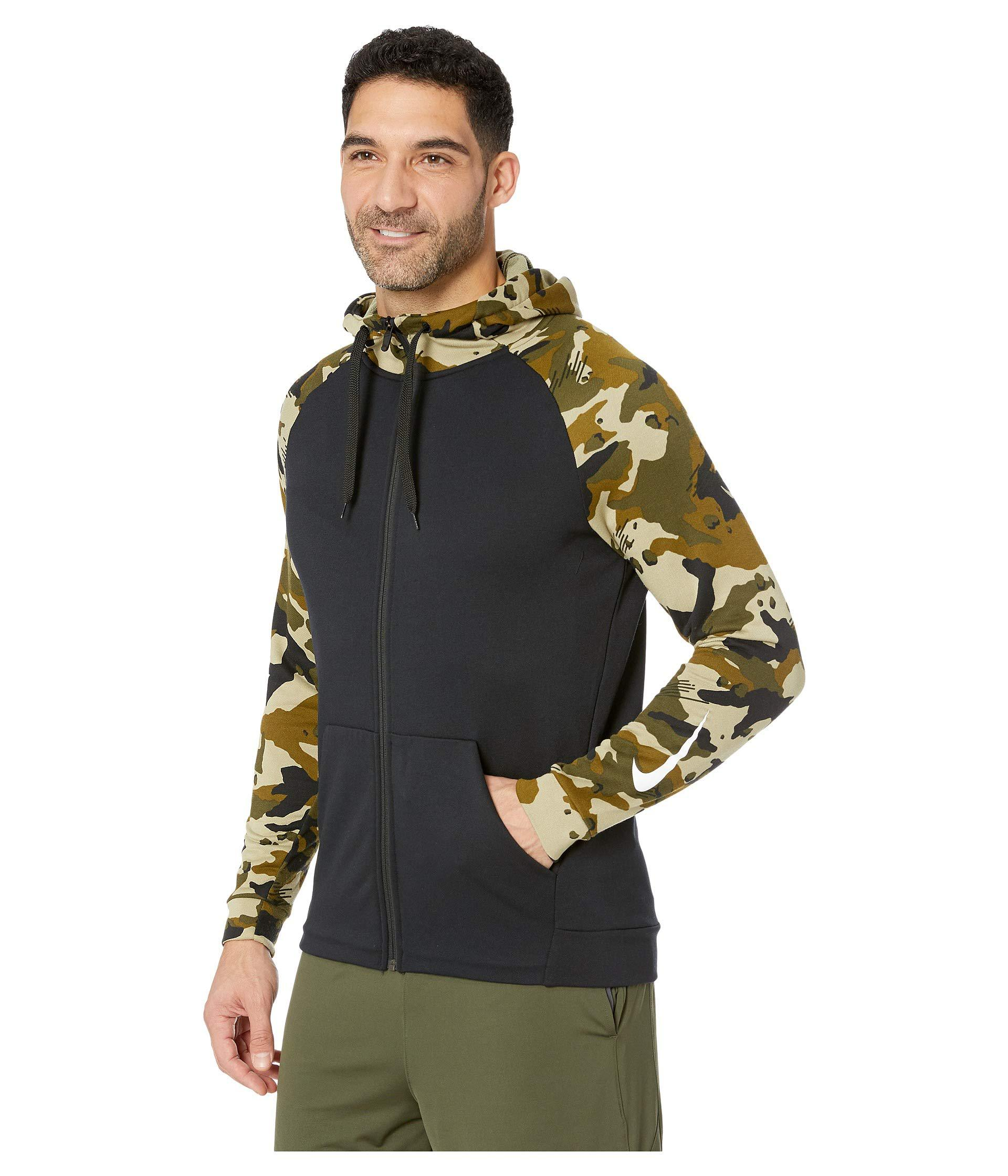 67f8ac39e30 Lyst - Nike Dry Hoodie Full Zip Fleece 2l Camo in Black for Men - Save 19%