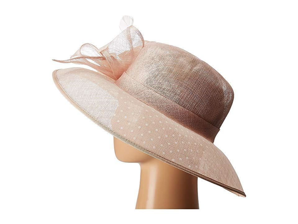 eec99b26641d5 San Diego Hat Company - Pink Drs1013 Derby Sinamay Dress Hat With Flocked  Dot Brim (. View fullscreen