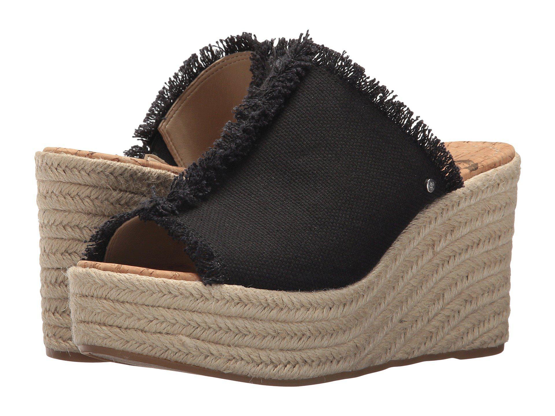 f81970d6279a82 Lyst - Sam Edelman Dina Espadrille Wedge Sandal in Black - Save 62%