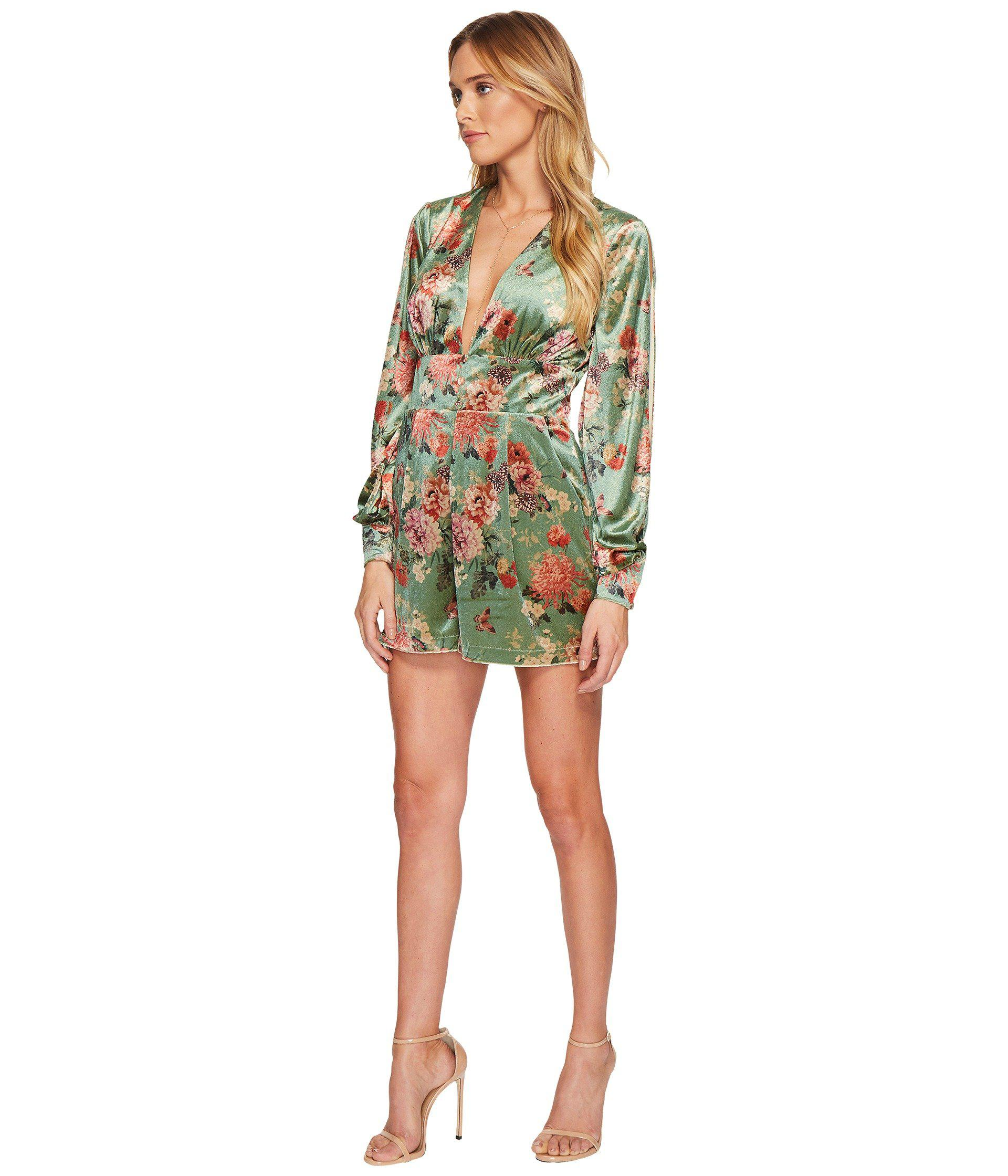 605a42b7dbc Lyst - Adelyn Rae Adela Romper in Green - Save 46%