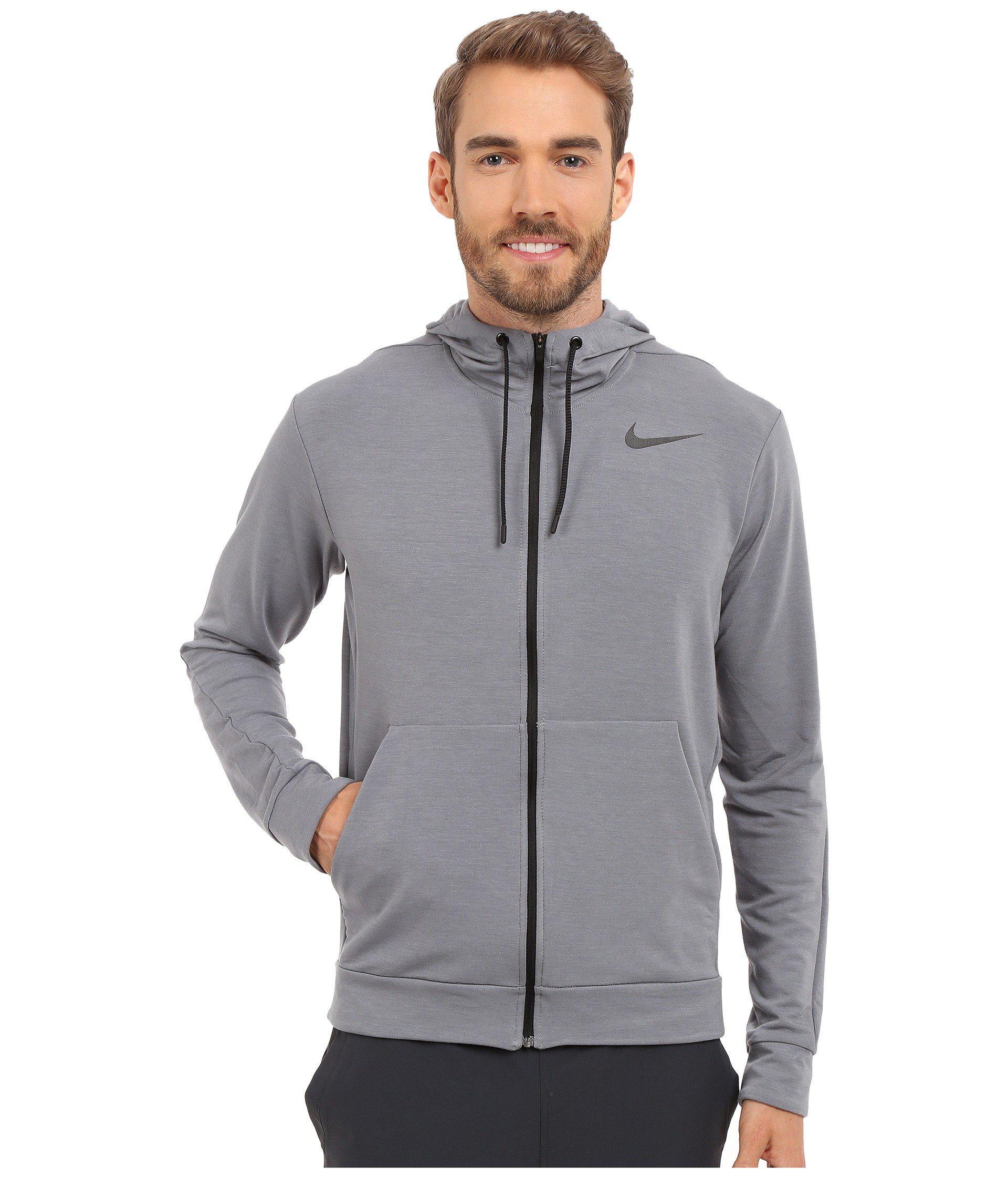 Lyst - Nike Dri-fittm Fleece Full-zip Training Hoodie in Gray for Men 22a520bce