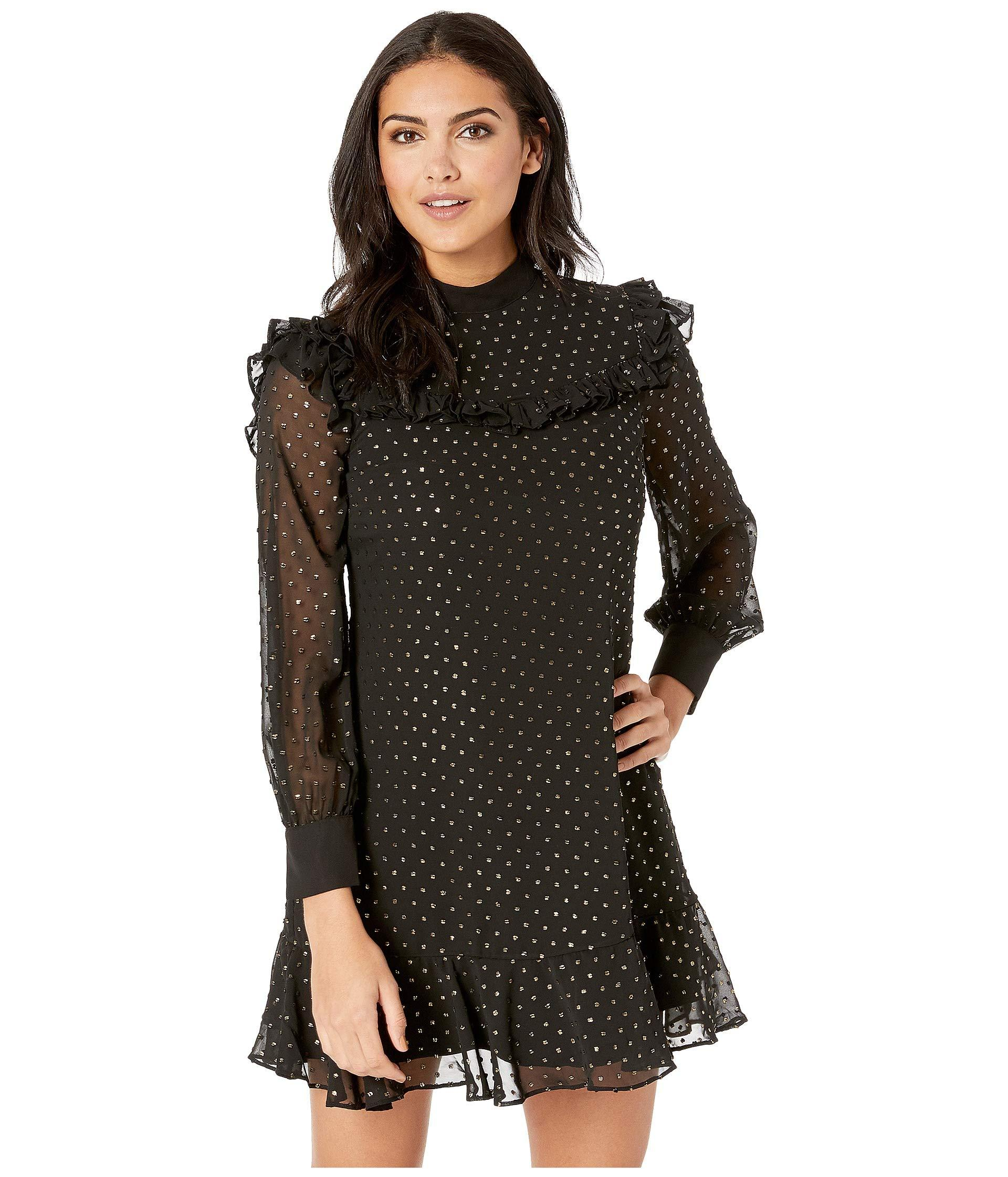 531dfcab2 Lyst - Ted Baker Joyous High Neck Ruffle Dress in Black - Save 23%