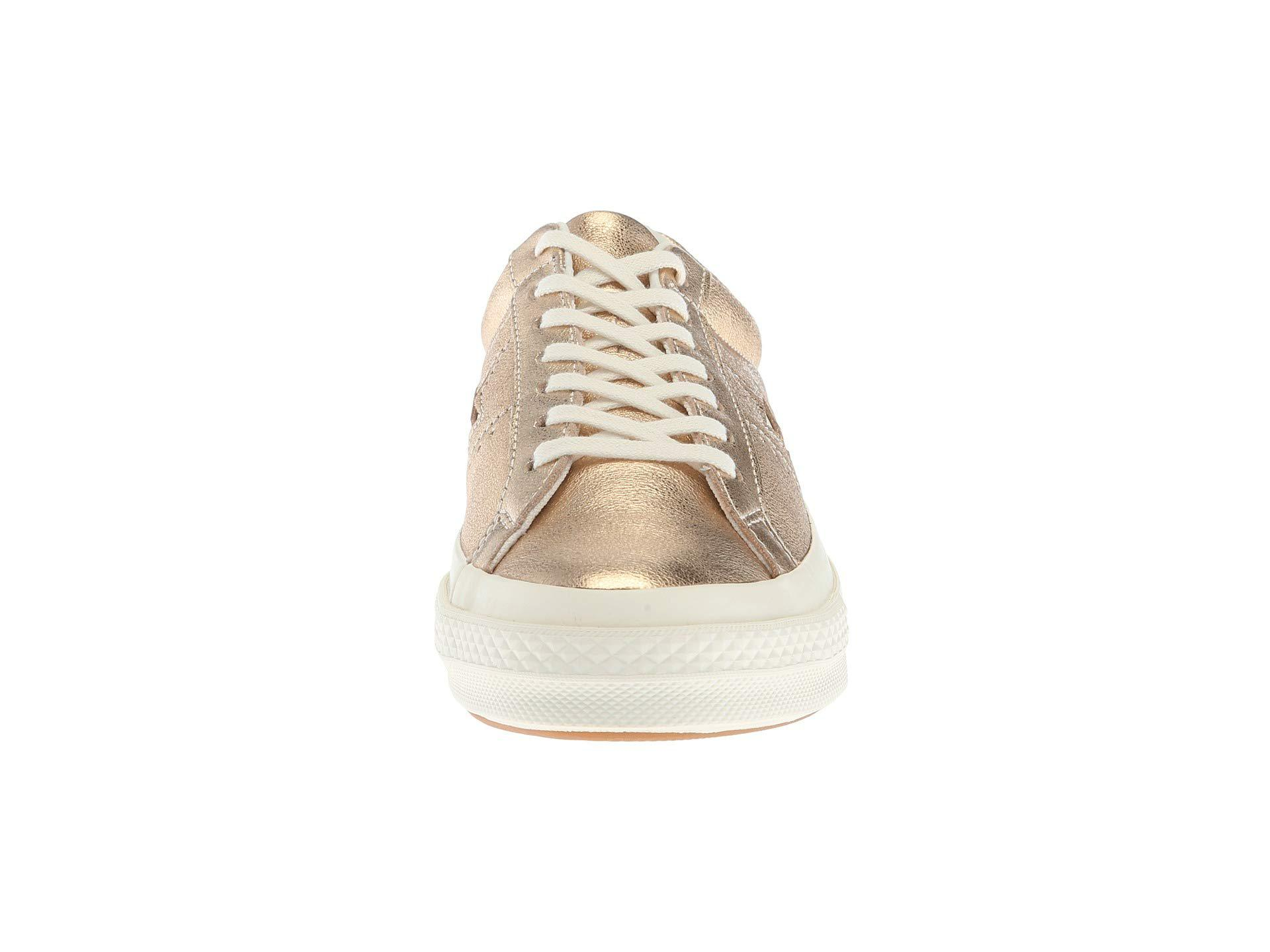 fd2341870fbba6 Converse - One Star Heavy Metallic Leather Ox - Lyst. View fullscreen