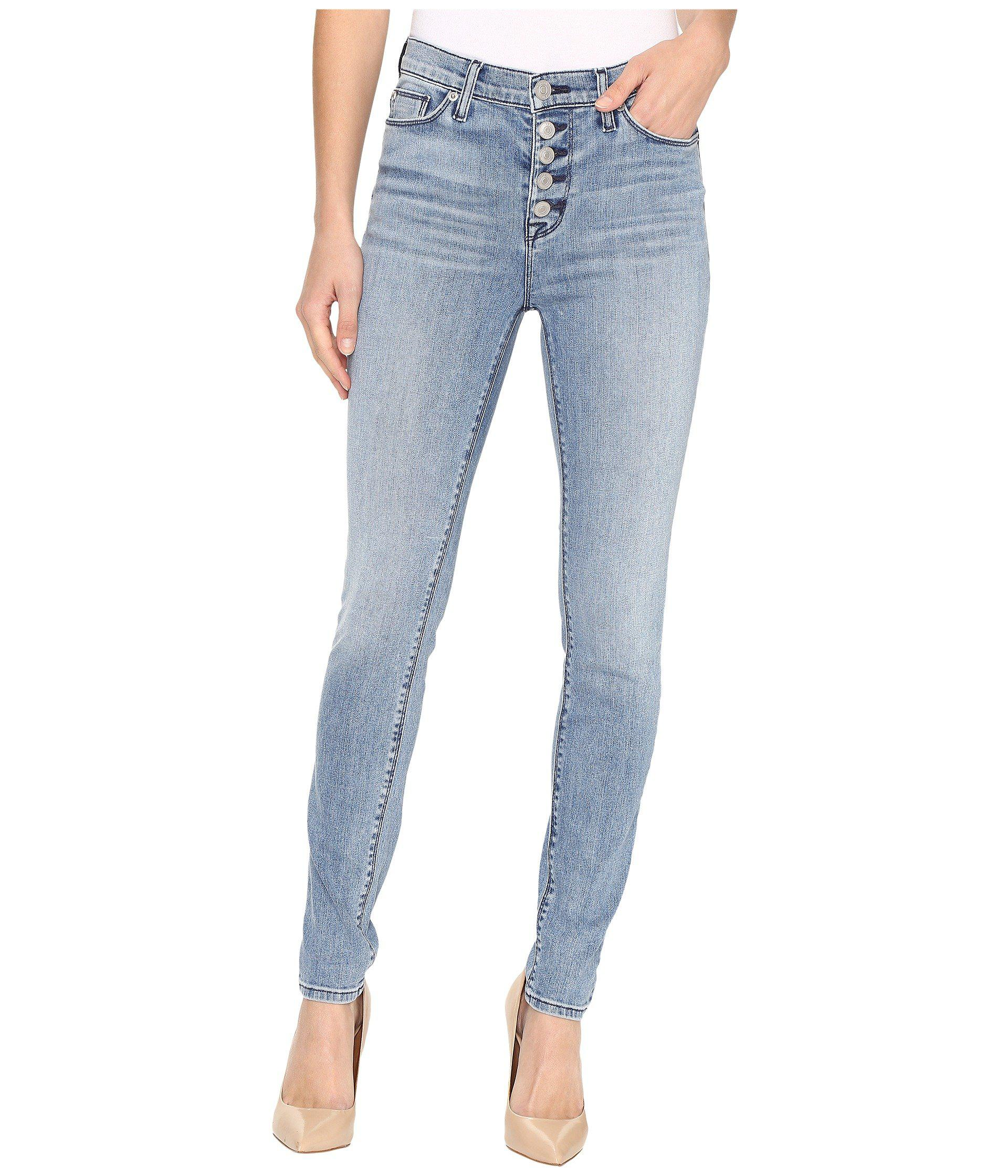 10dc7a4b6fe Lyst - Hudson Jeans Ciara High-rise Exposed Buttons In Shotgun in Blue