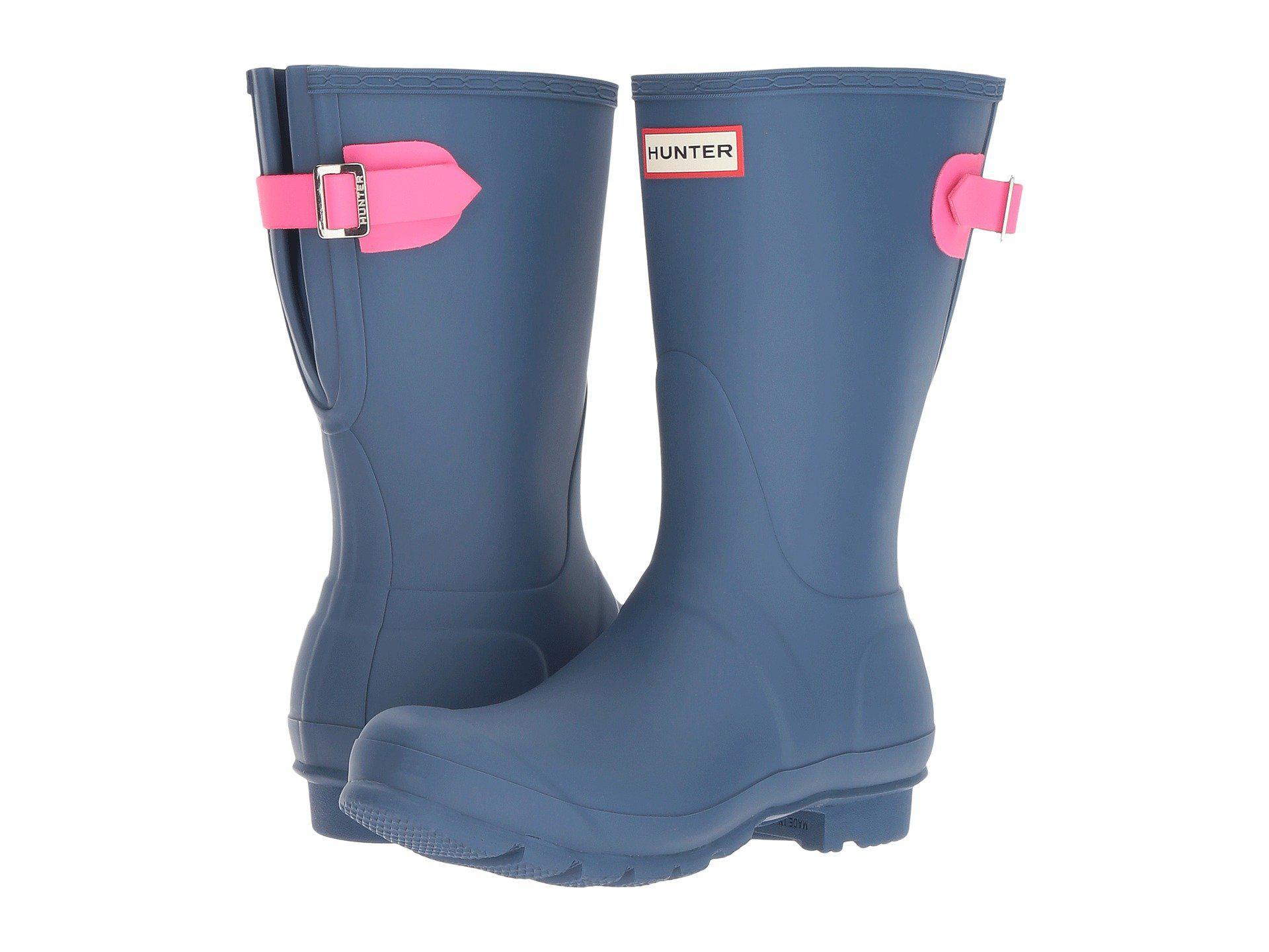 Hunter | Blue Original Short Back Adjustable Rain Boots | Lyst. View  Fullscreen