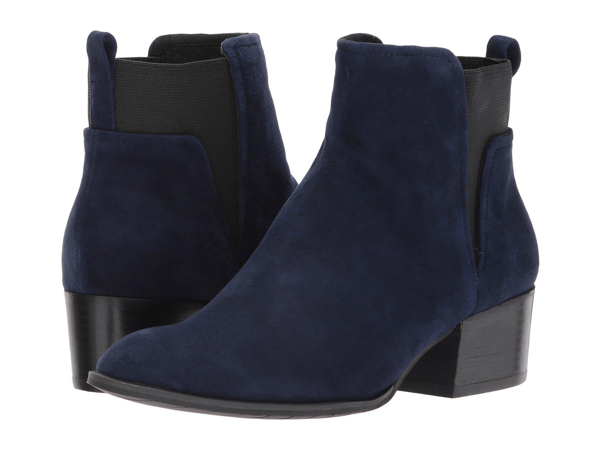 71917046669b Lyst - Kenneth Cole Artie Pull On Ankle Bootie Low Heel Suede in ...