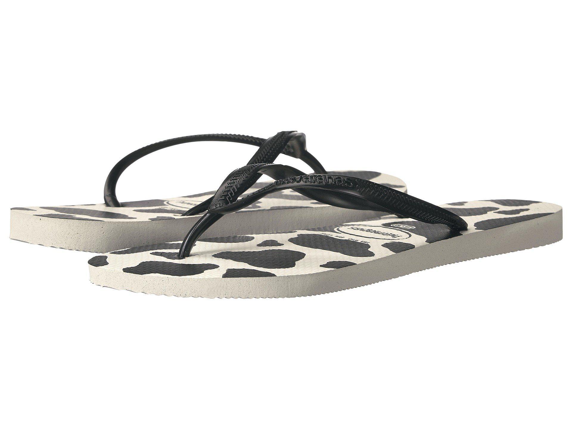 8be777acc Lyst - Havaianas Slim Animals Flip Flops in Black