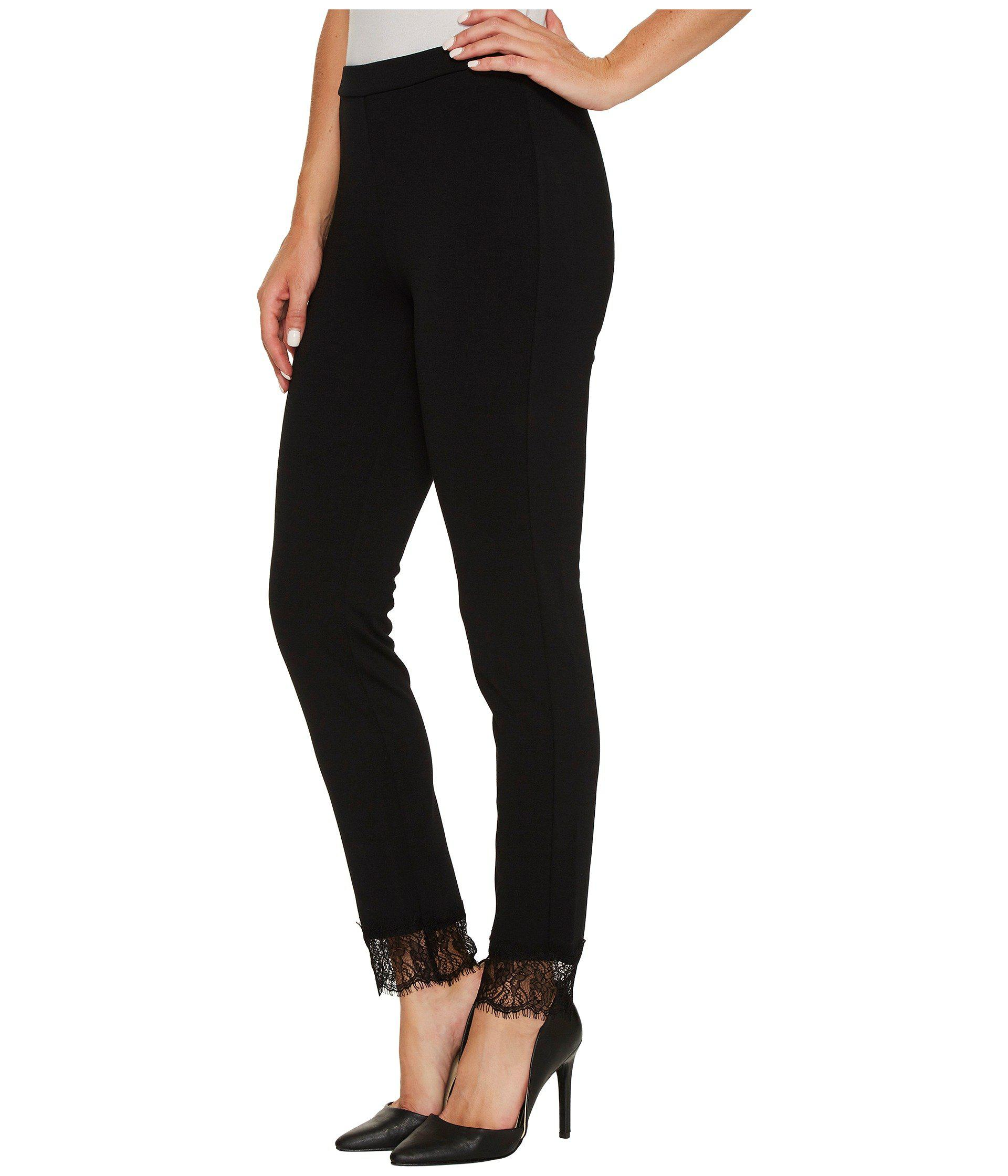 d282c13681931 Lyst - MICHAEL Michael Kors Lace Cuff Ponte Leggings in Black