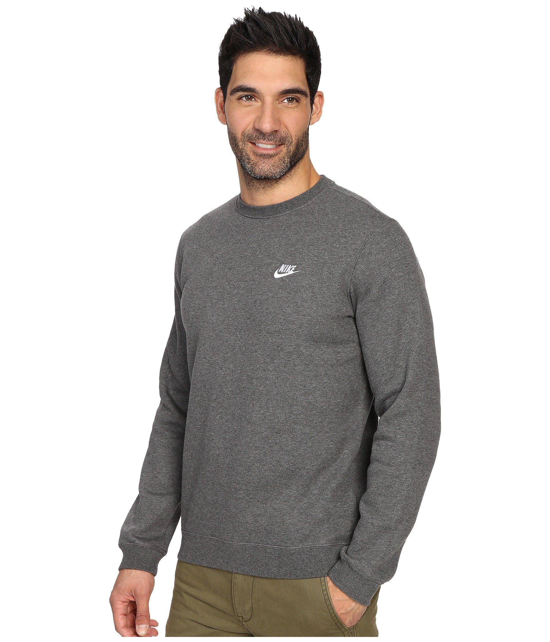 b65c3081adc437 Lyst - Nike Club Fleece Pullover Crew in Gray for Men