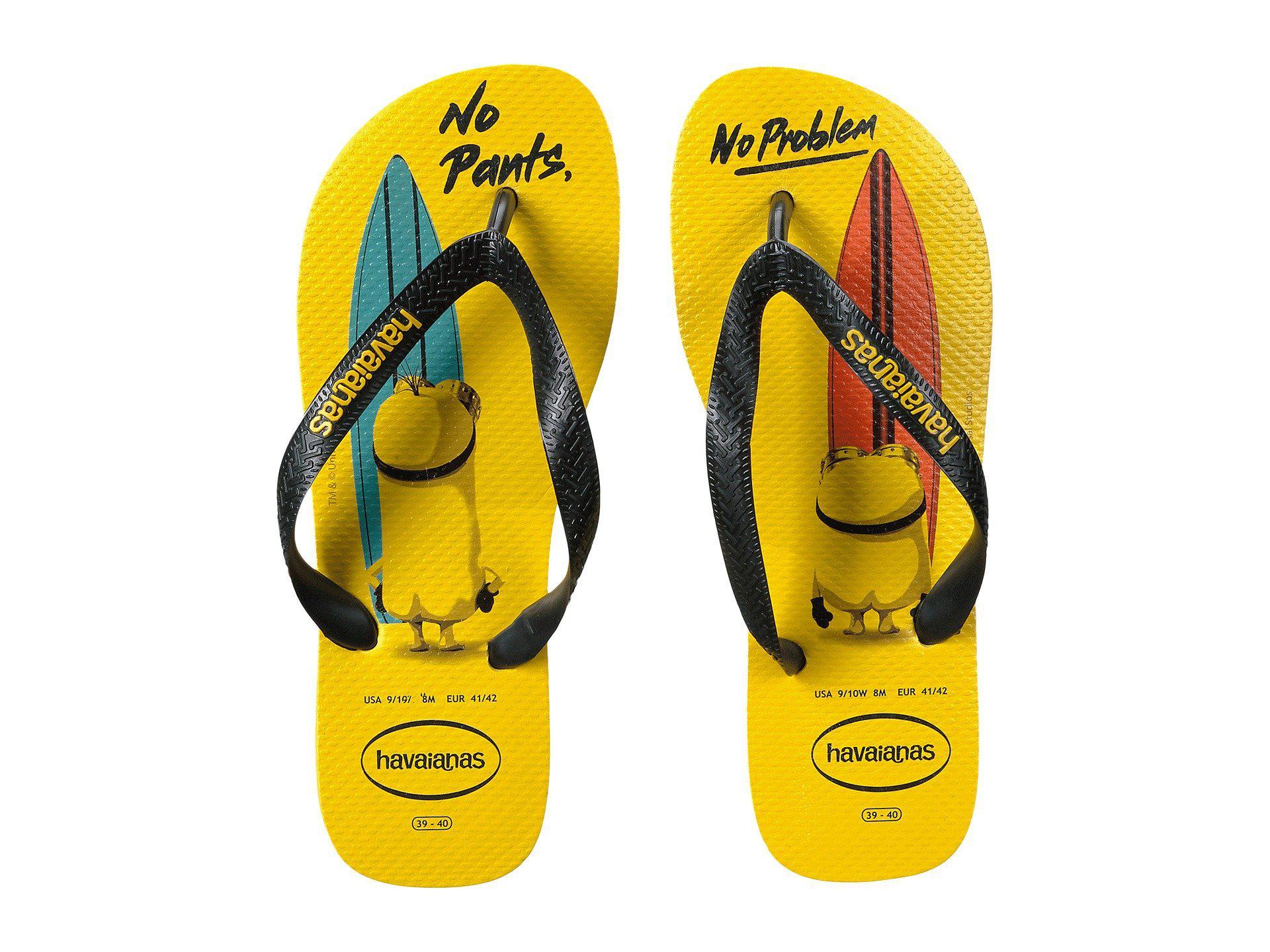 572ffc2cadc826 Havaianas - Yellow Minions Flip Flops - Lyst. View fullscreen