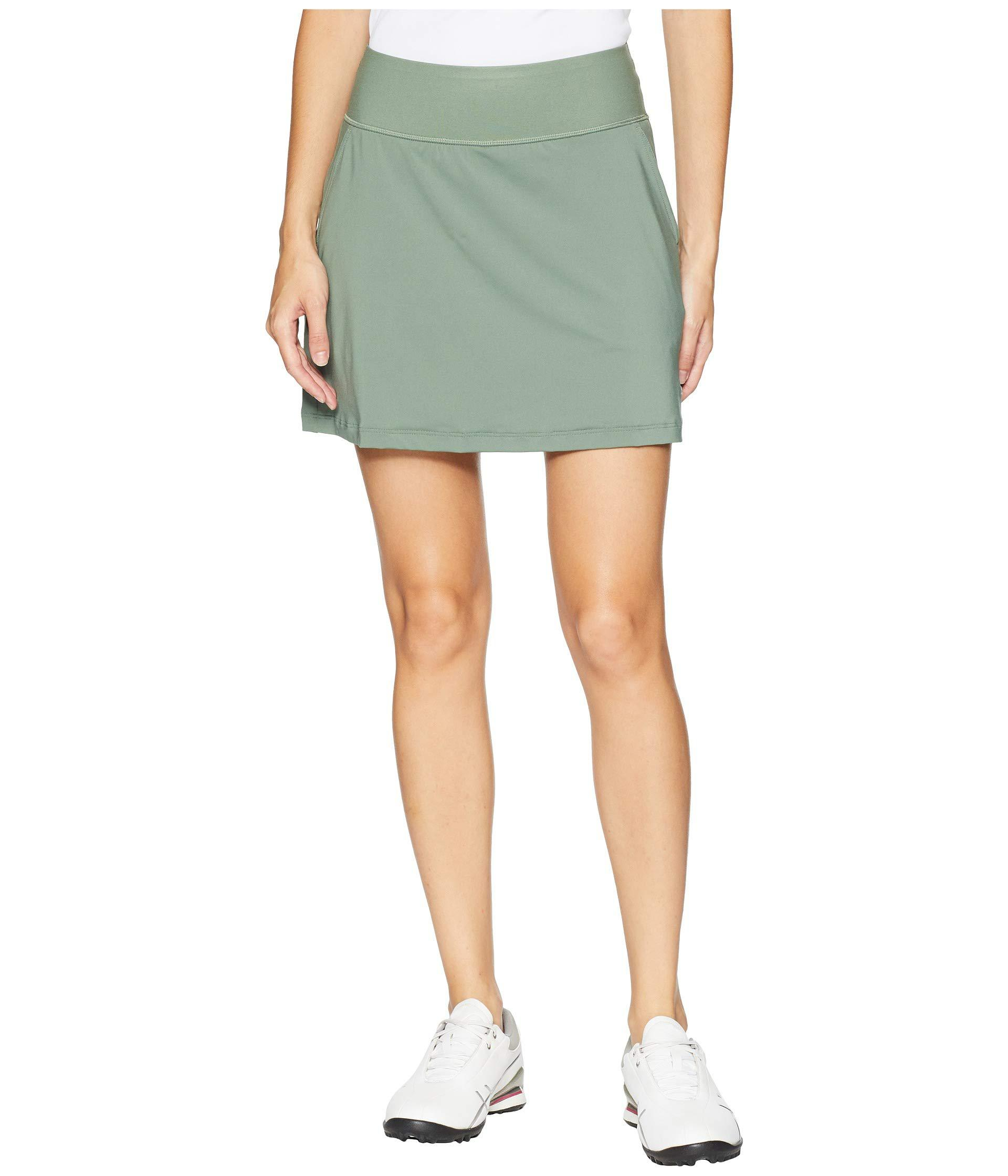 7efb82034 Lyst - PUMA Pwrshape Solid Knit Skirt in Green - Save 13%