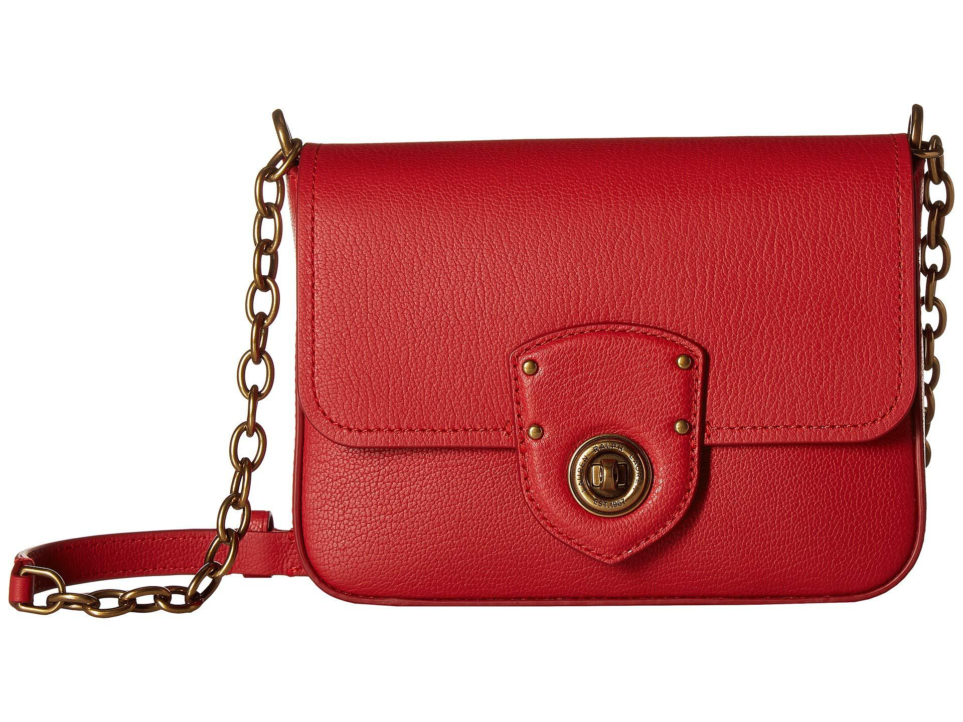 a9f83bd2cd Lyst - Lauren by Ralph Lauren Millbrook Chain Crossbody Small in Red ...