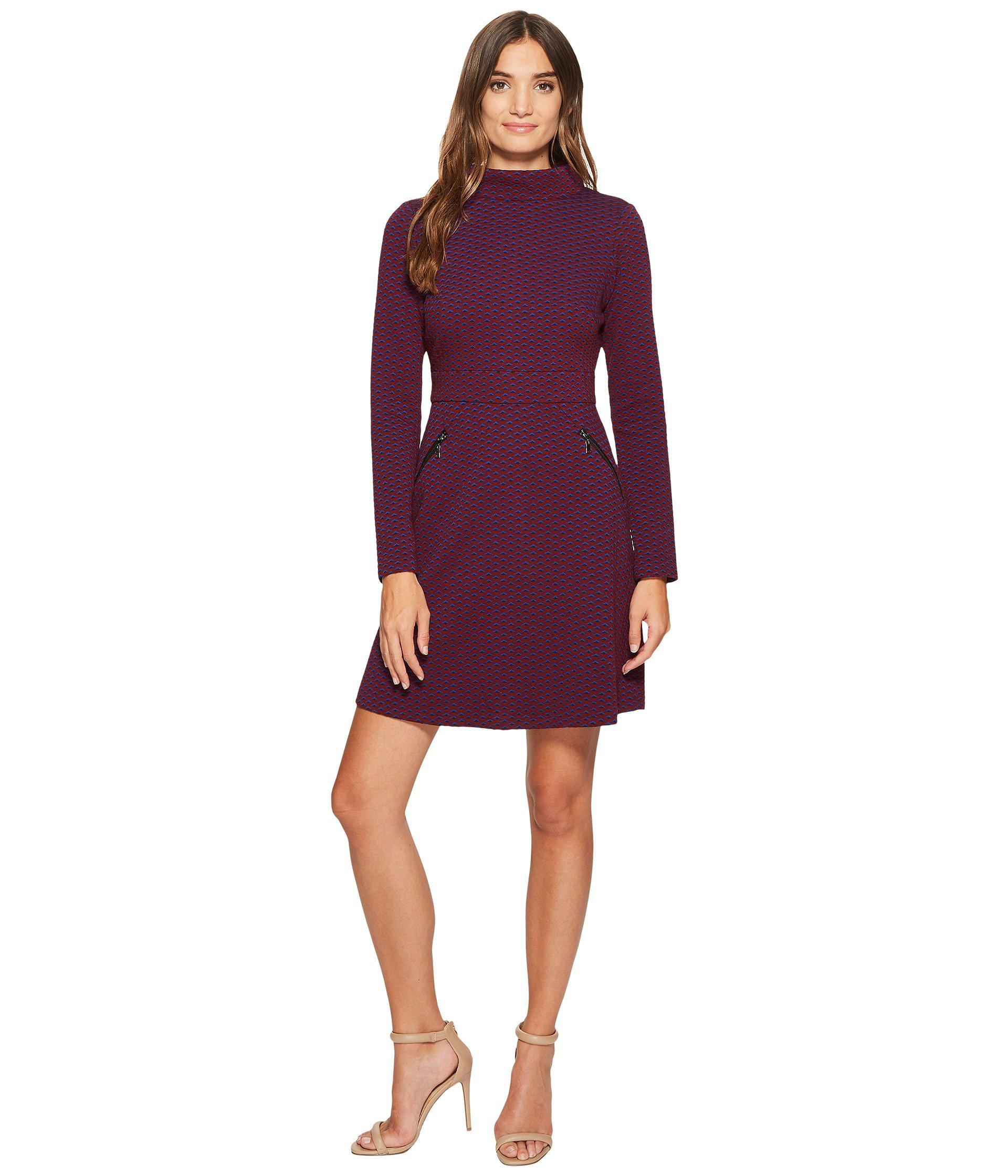 690686aab7a3 Lyst - Maggy London Retro Jacquard Fit   Flare Dress in Purple