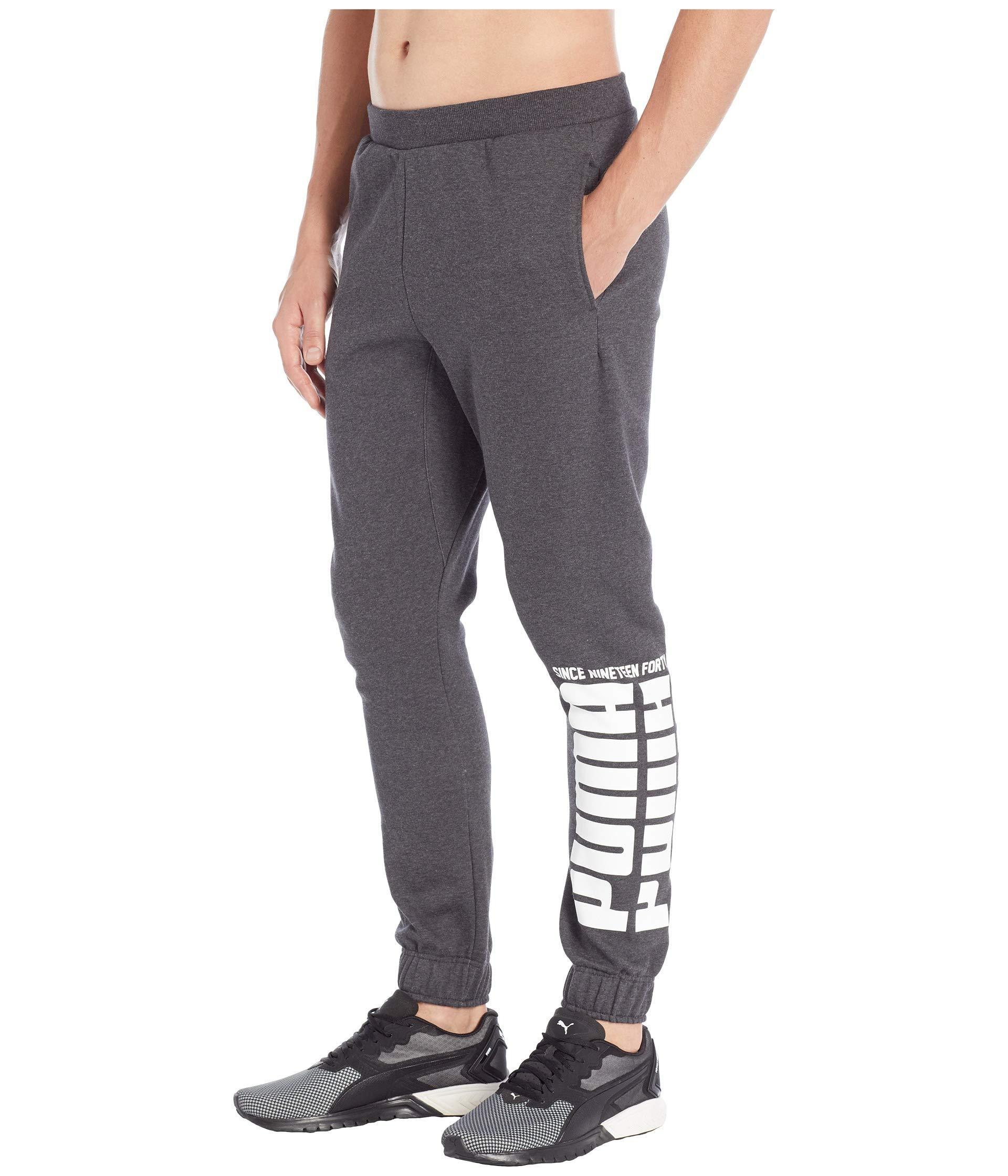 906388b90216 Lyst - PUMA Rebel Bold Pants Fleece in Gray for Men