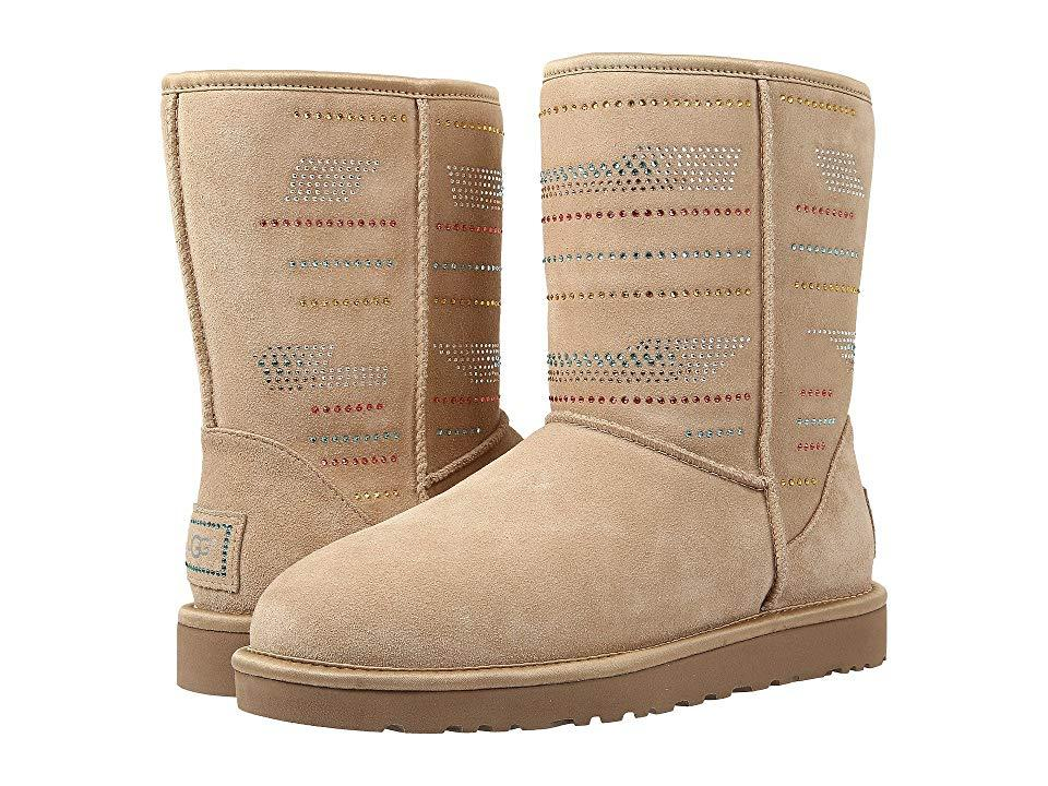 2c51145a2b9 UGG Classic Short Serape Bling (sand Twinface) Pull-on Boots in ...