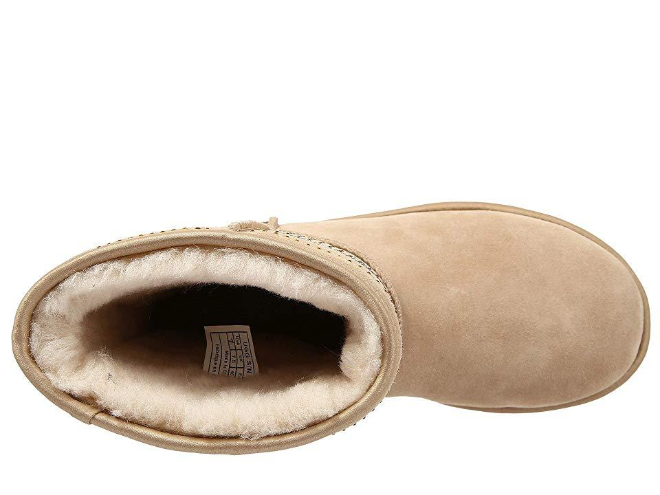 f0d4dfb81b5 UGG Classic Short Serape Bling (sand Twinface) Pull-on Boots in ...