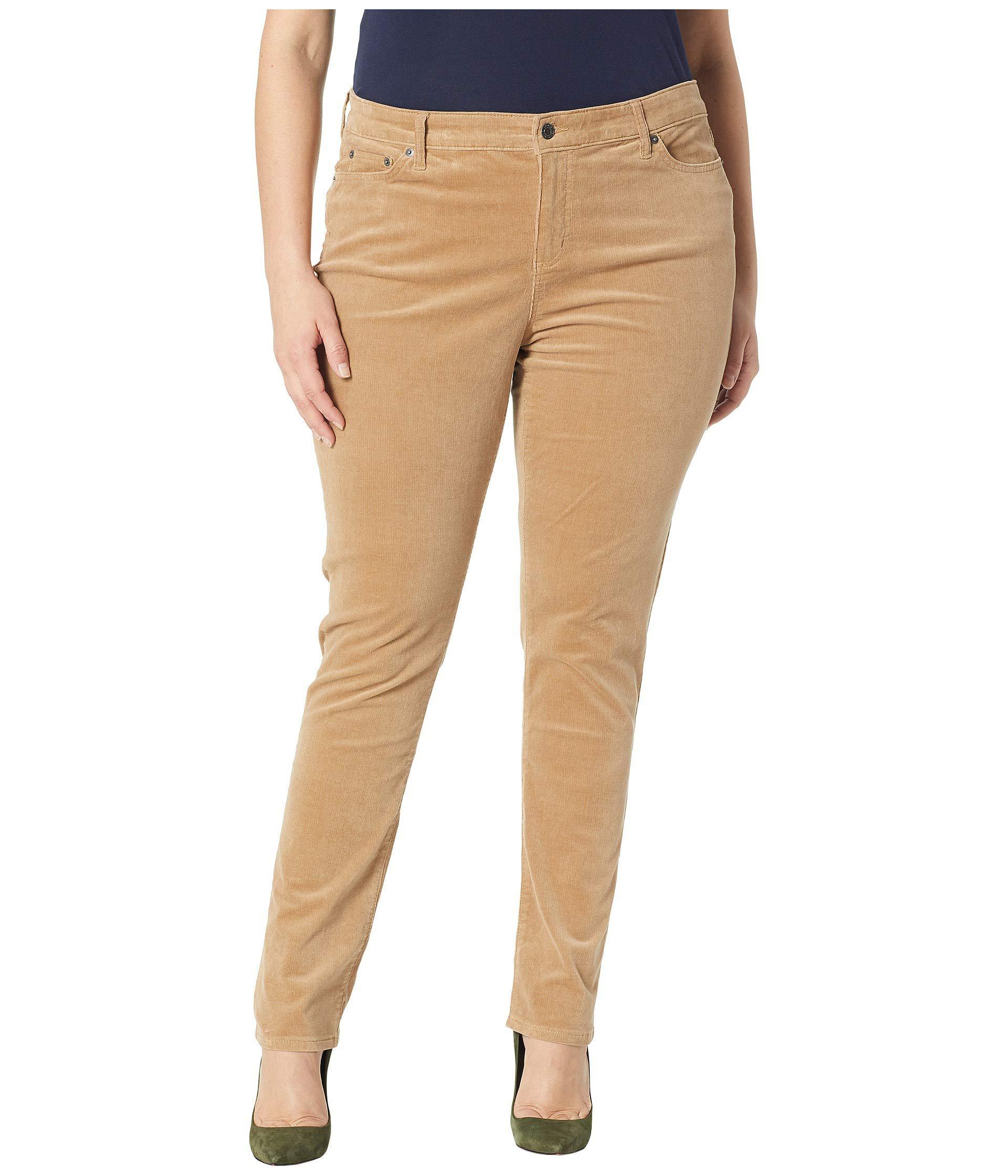 6081729137804 Lauren by Ralph Lauren. Women s Natural Plus Size Premier Straight Corduroy  Jeans