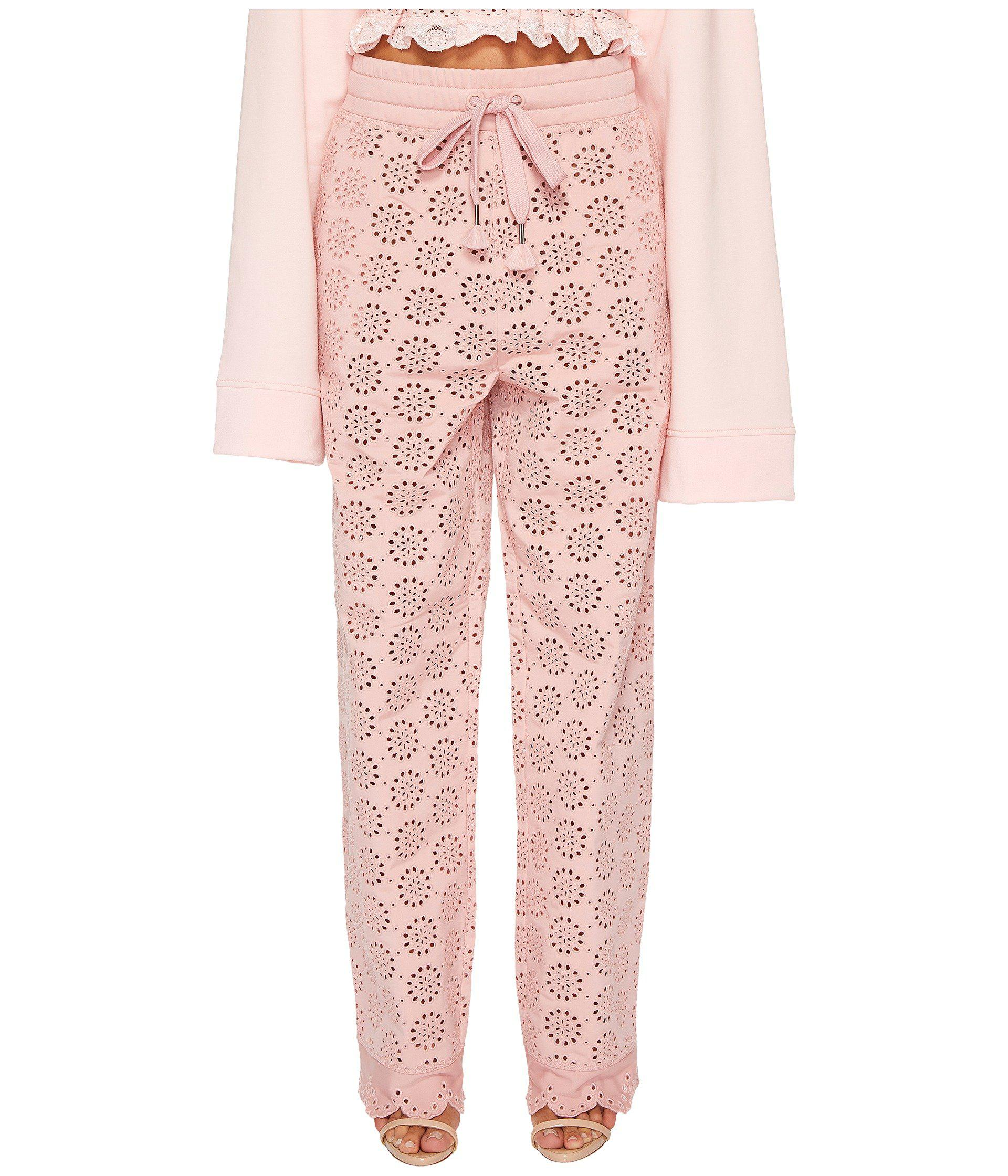 50e71ad3 PUMA Fenty Die Cut Embroidered Pants in Pink - Lyst