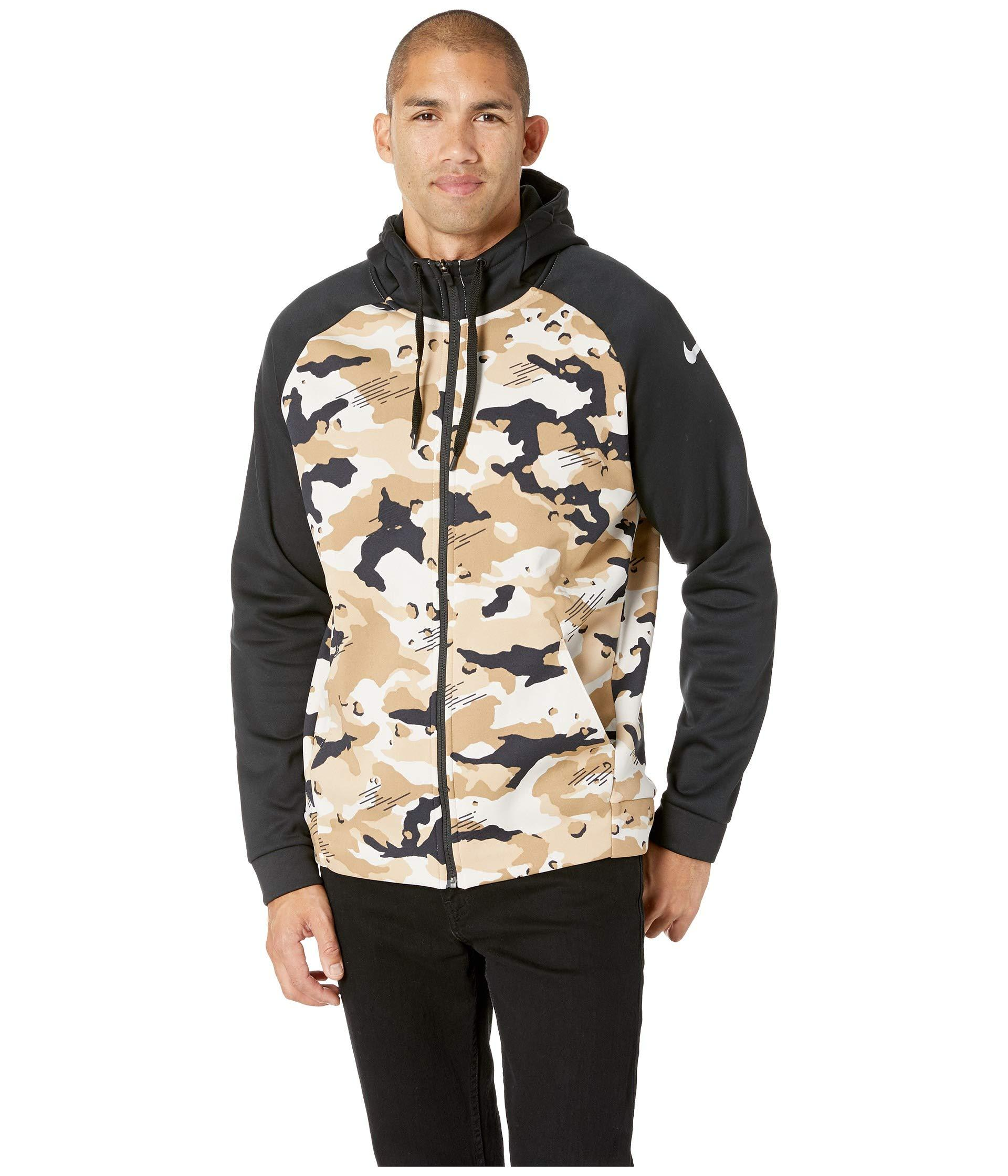 d01a4a8e404 Lyst - Nike Therma Hoodie Full Zip Camo in Black for Men - Save 24%
