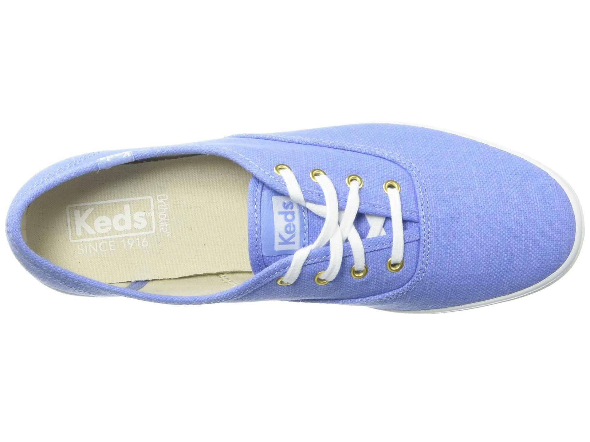 deaf0bf11c391 Keds - Blue Champion Chalky Canvas - Lyst. View fullscreen
