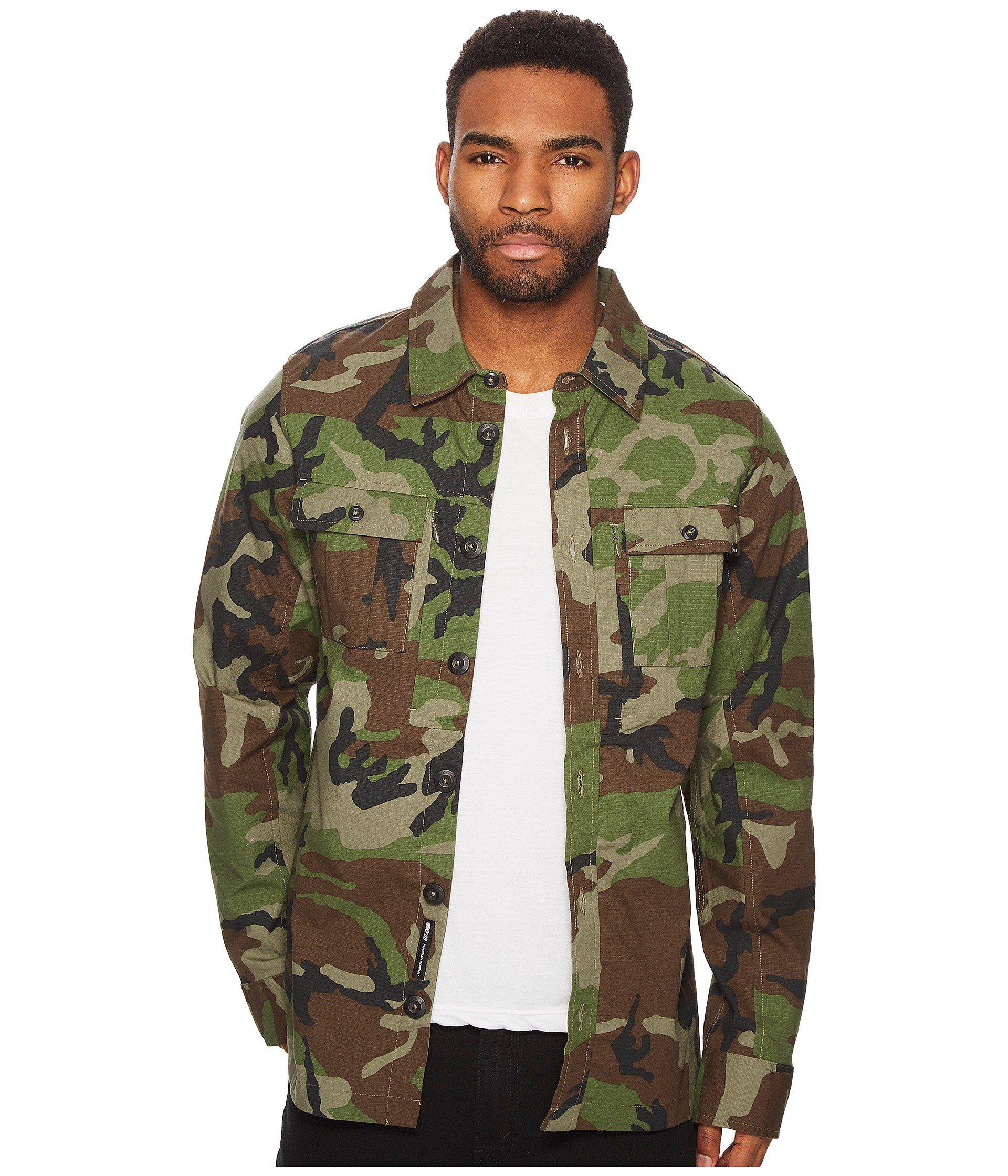 bd71e0b75b013 Lyst - Nike Sb Flex Holgate Long Sleeve Camo Top in Green for Men