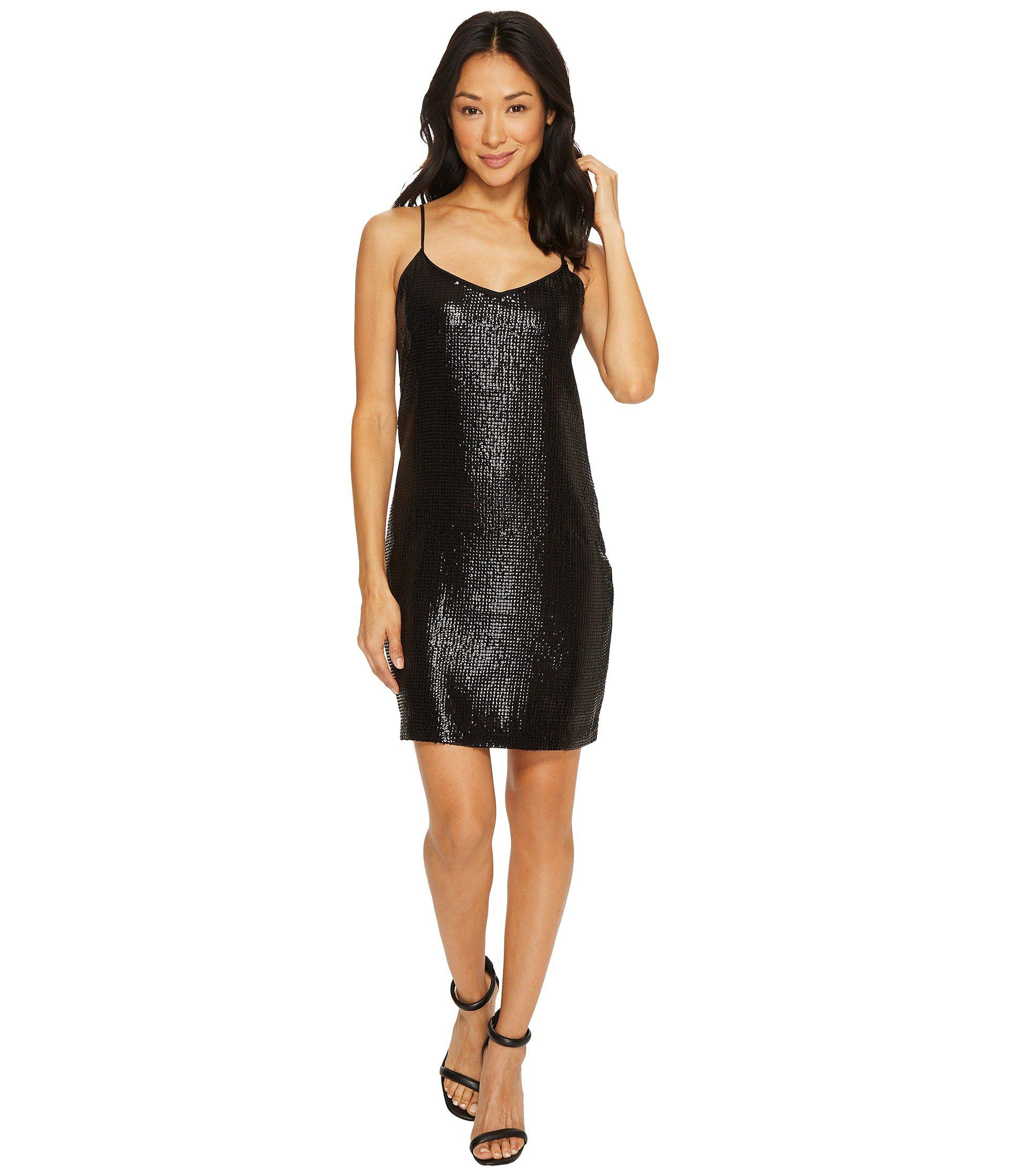 26f9386ea1c3 Lyst - Vince Camuto All Over Sequin Cami Dress in Black - Save 44%