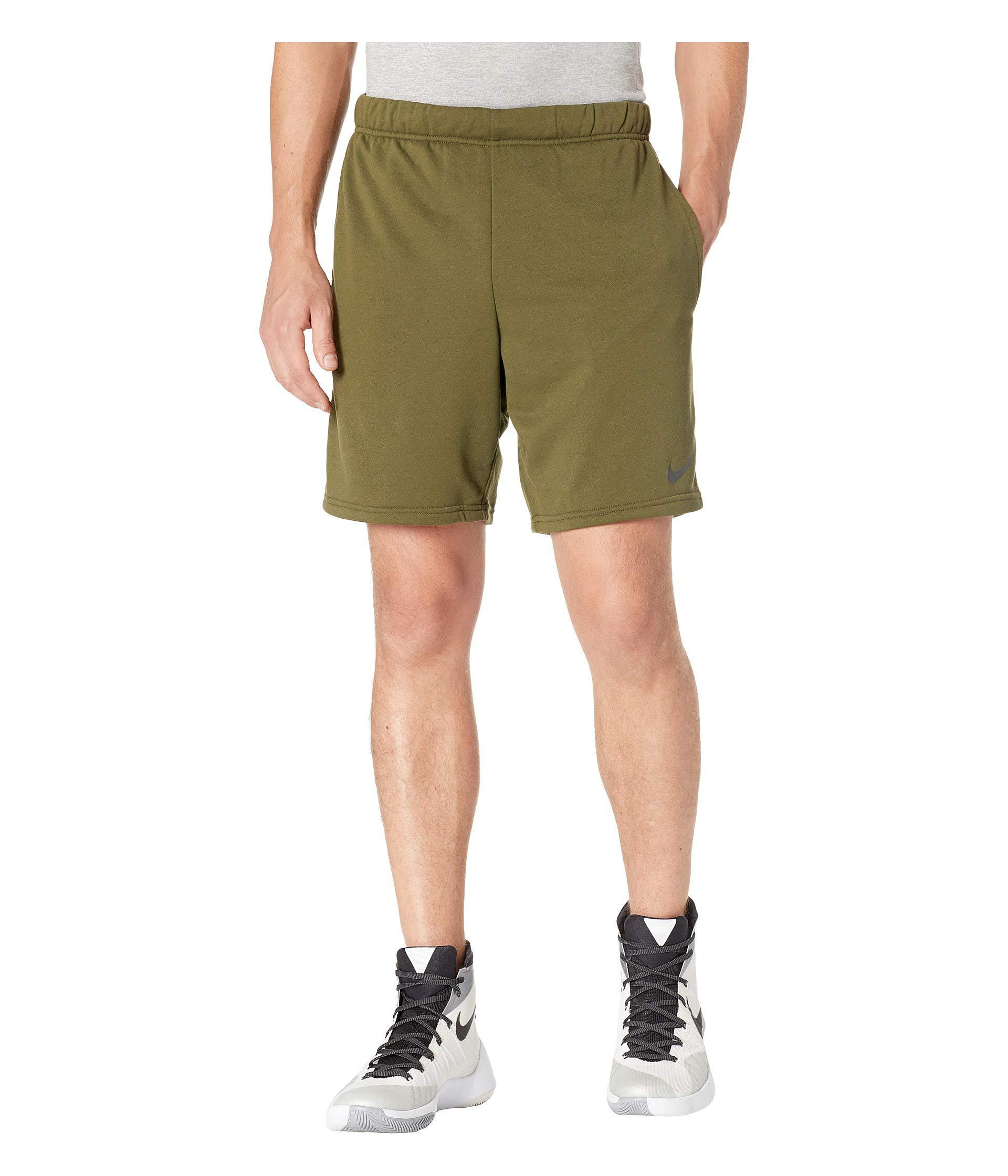 4f42efcd95 Lyst - Nike Dry Fleece Hybrid Shorts in Green for Men - Save 20%