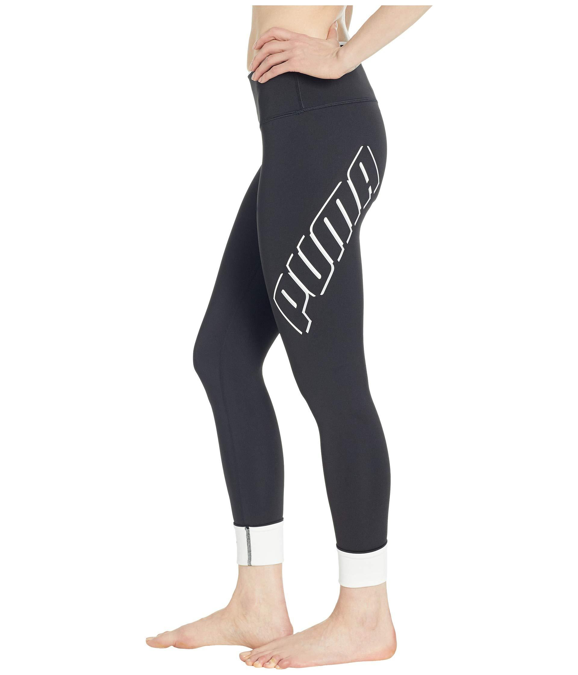 ae9360ebce4b59 Lyst - PUMA Modern Sports Fold Up Leggings in Black
