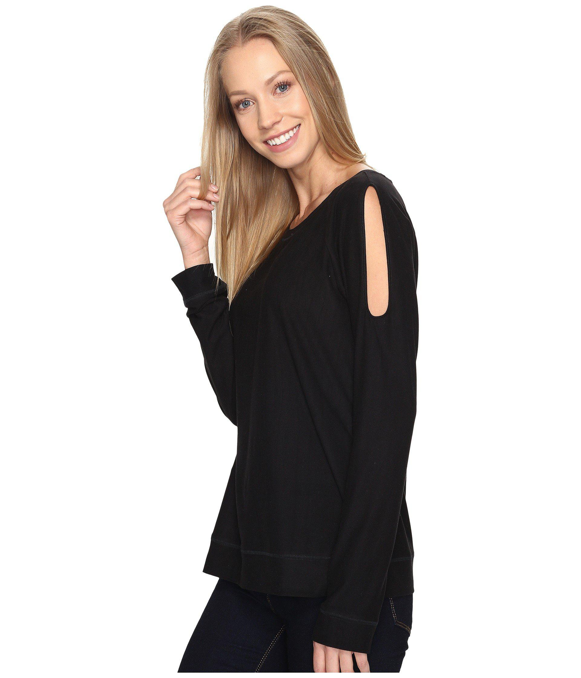 3c824d82960ab0 Lyst - B Collection By Bobeau Cold Shoulder Tee in Black