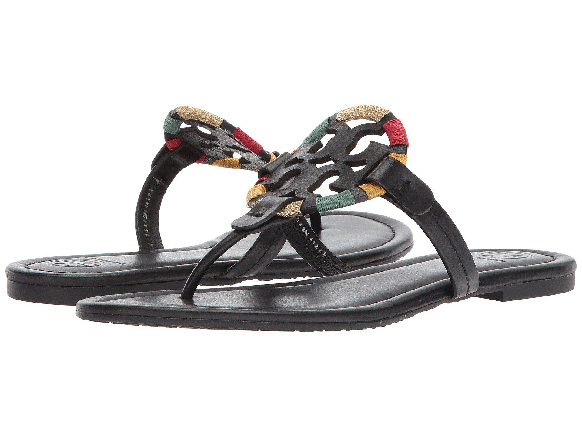 501077b85ca54 Lyst - Tory Burch Miller Embroidered Sandal in Black