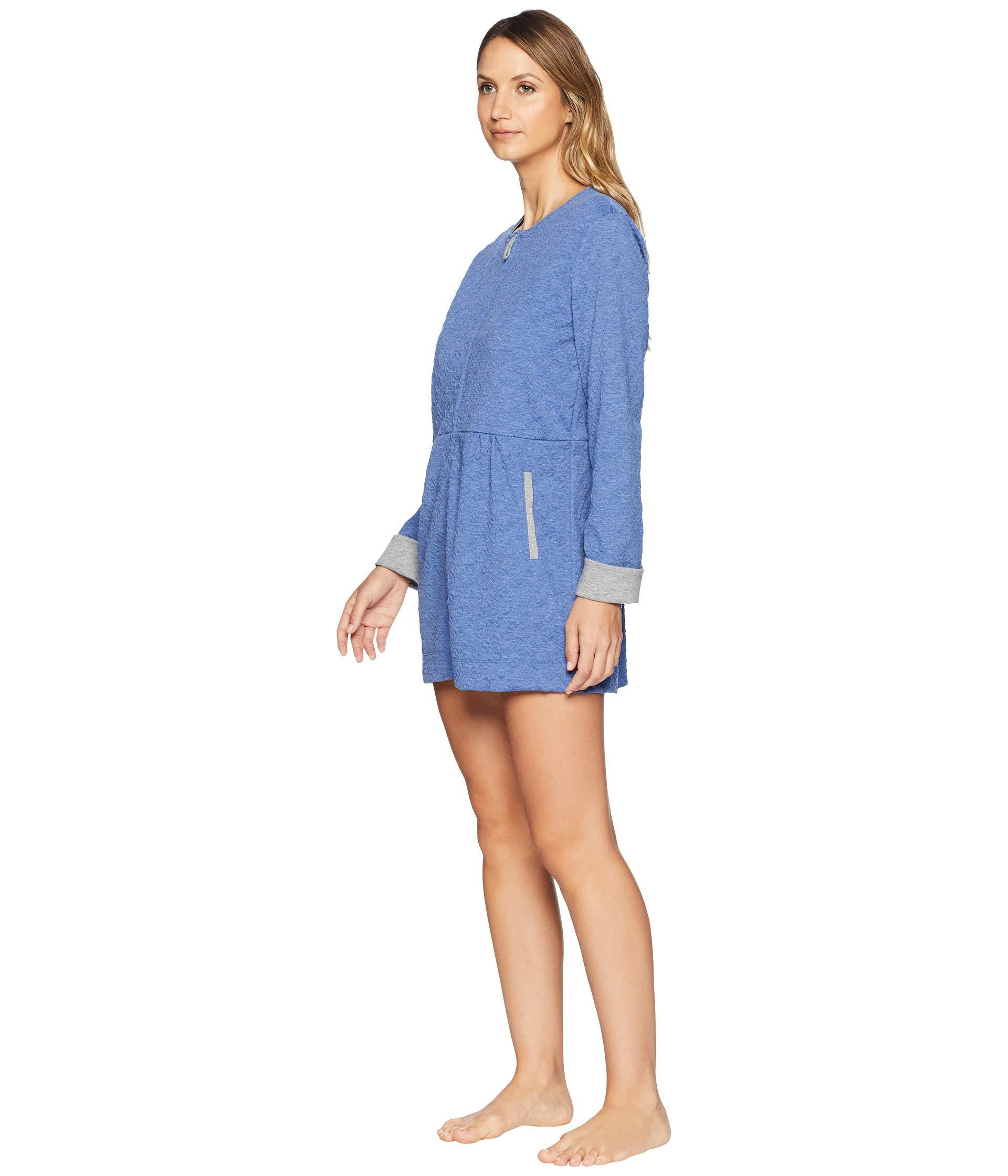 d19e74c750 Lyst - Carole Hochman Short Zip Robe in Blue