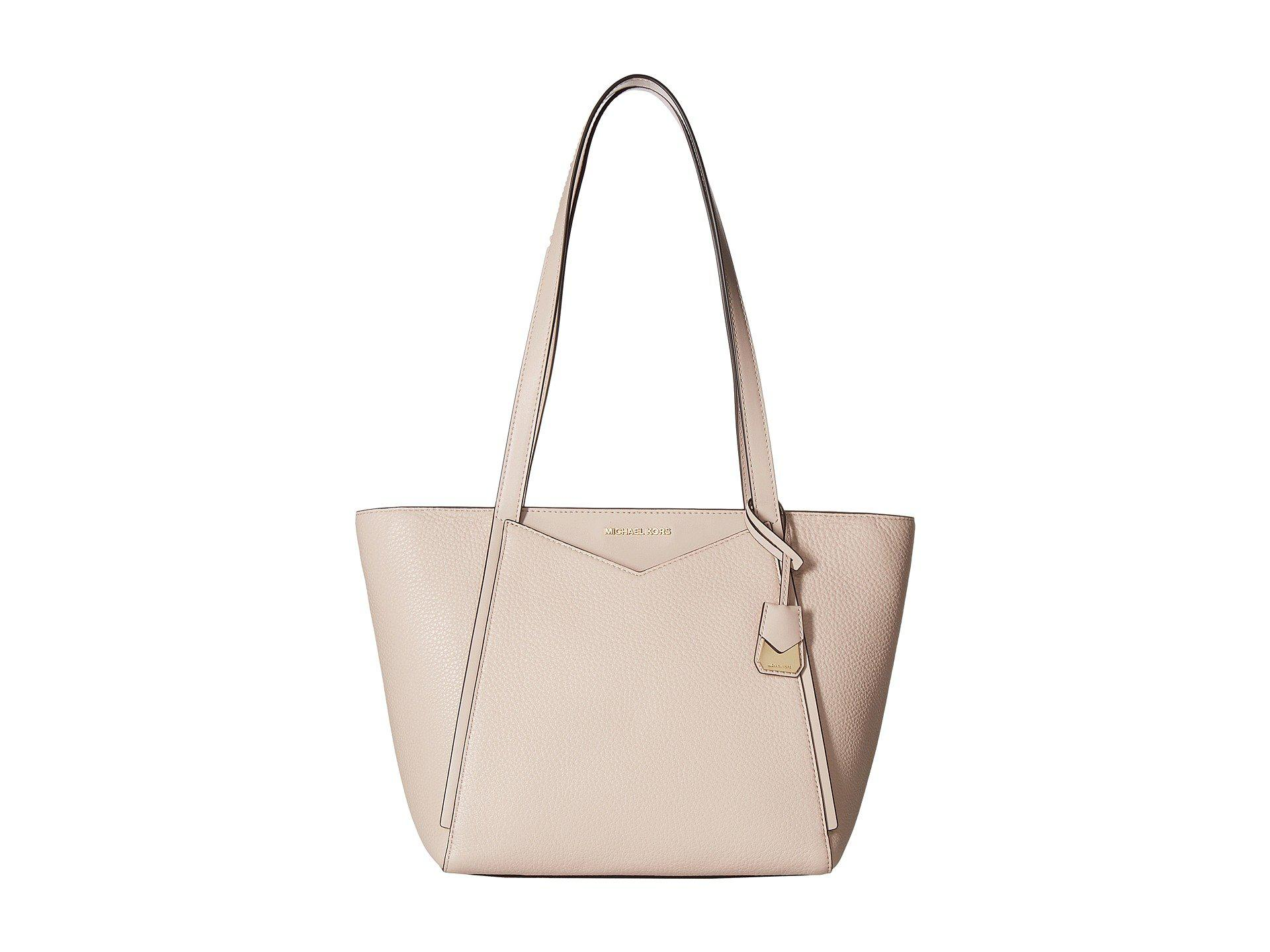 207fcc21336a Lyst - MICHAEL Michael Kors Whitney Small Top Zip Tote in Pink ...