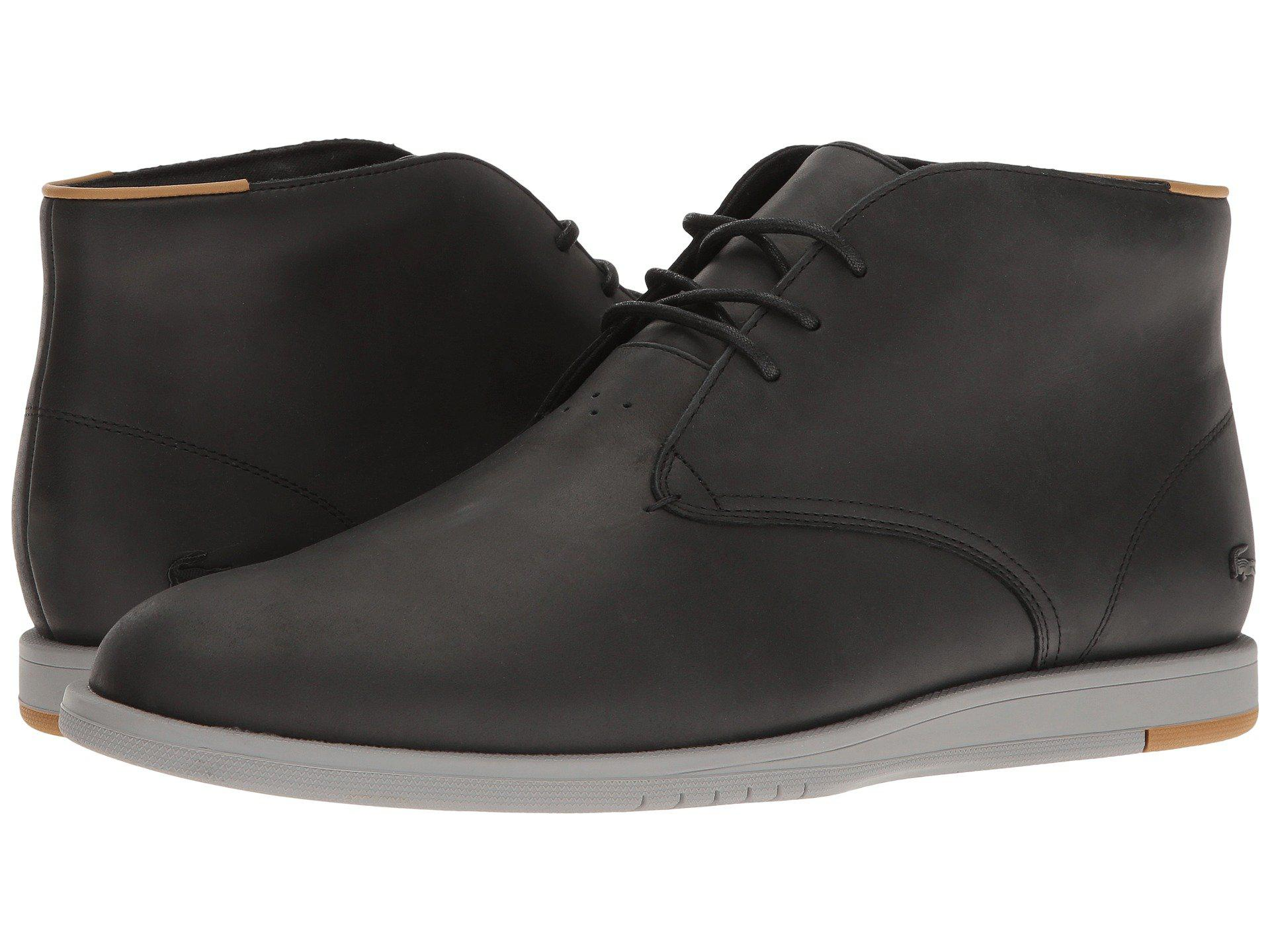05c7a4d3707e Lyst - Lacoste Laccord Chukka 117 1 Cam in Black for Men