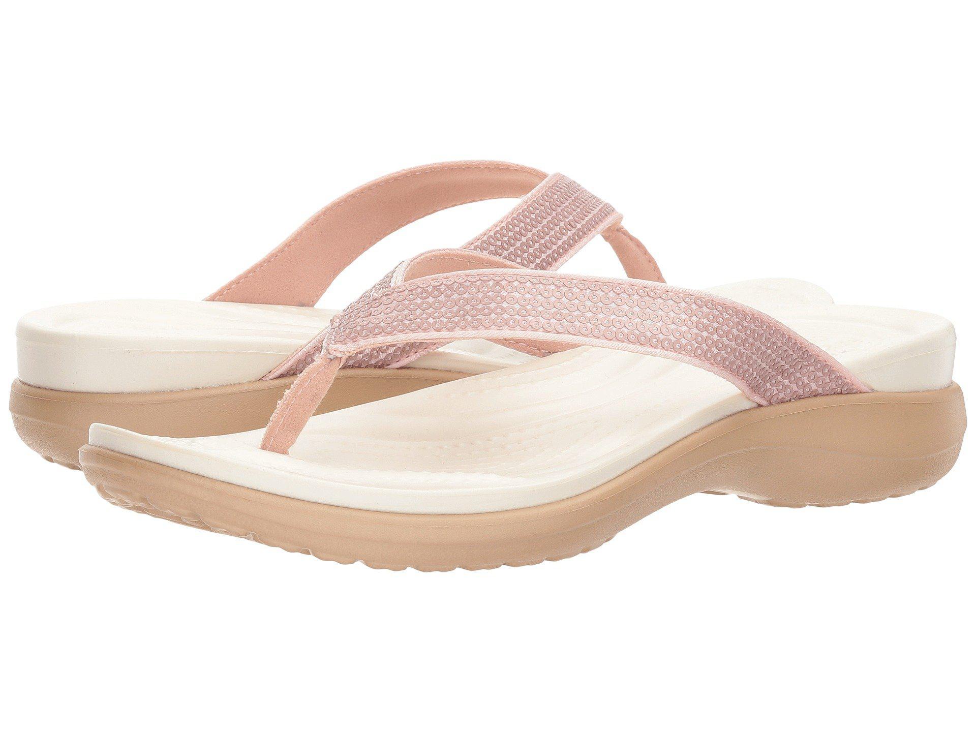 d030ddf81cd Lyst - Crocs™ Capri V Sequin in Pink - Save 56%
