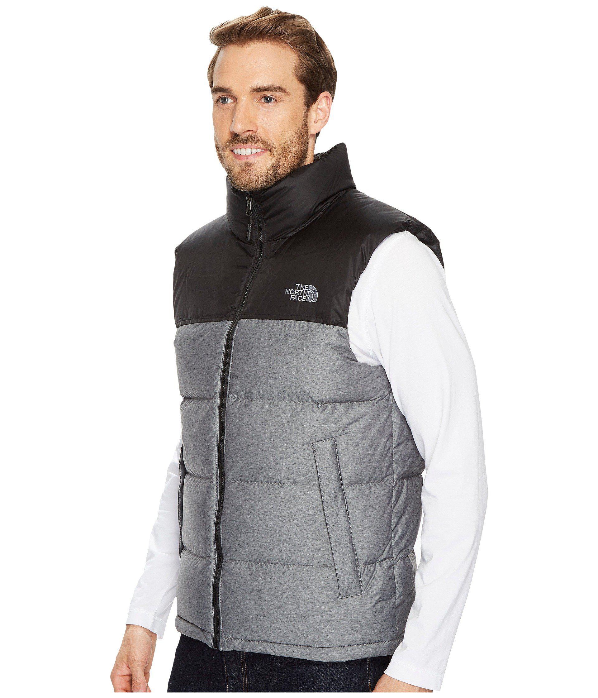 e3c03fe560 ... tnf black 36d18 6670f  store lyst the north face nuptse vest in gray  for men save 4.545454545454547 b657c 3cc3f
