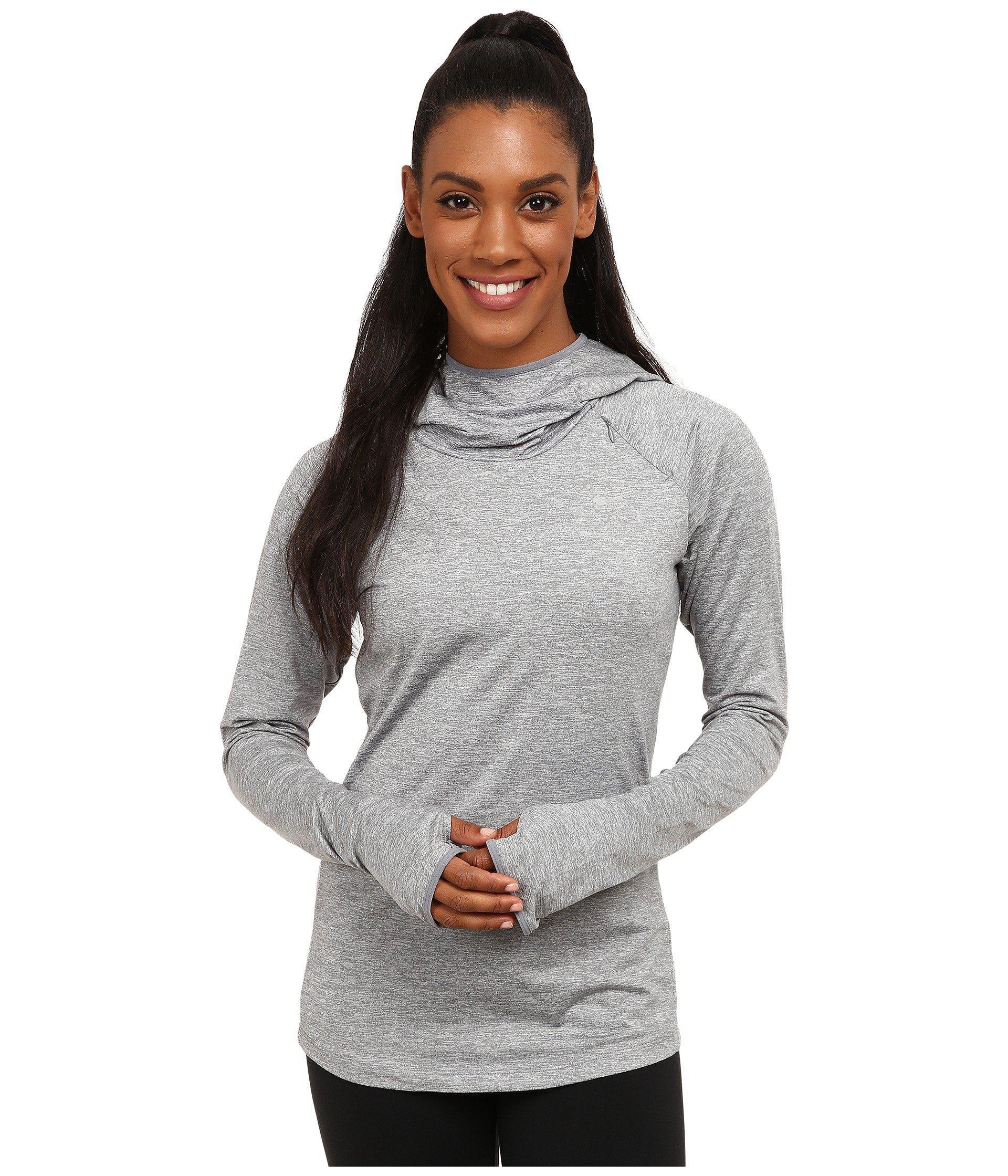 Nike. Women's Gray Dry Element Running Hoodie