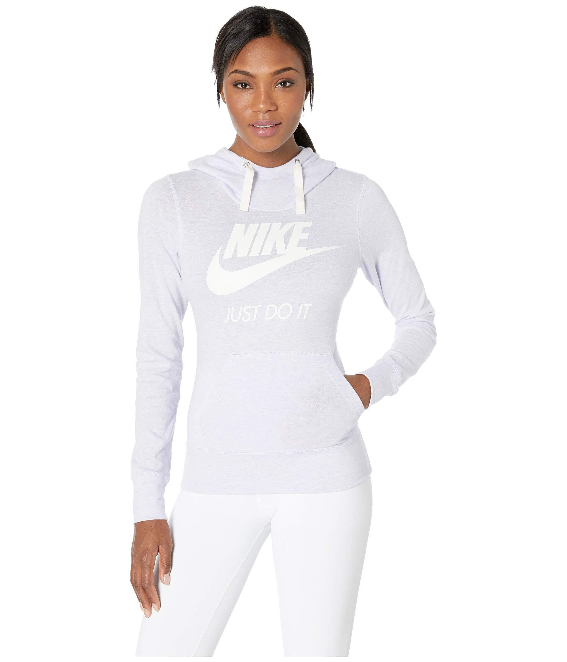 aac6274d423b5a Lyst - Nike Sportswear Gym Vintage Hbr Hoodie in White - Save 7%