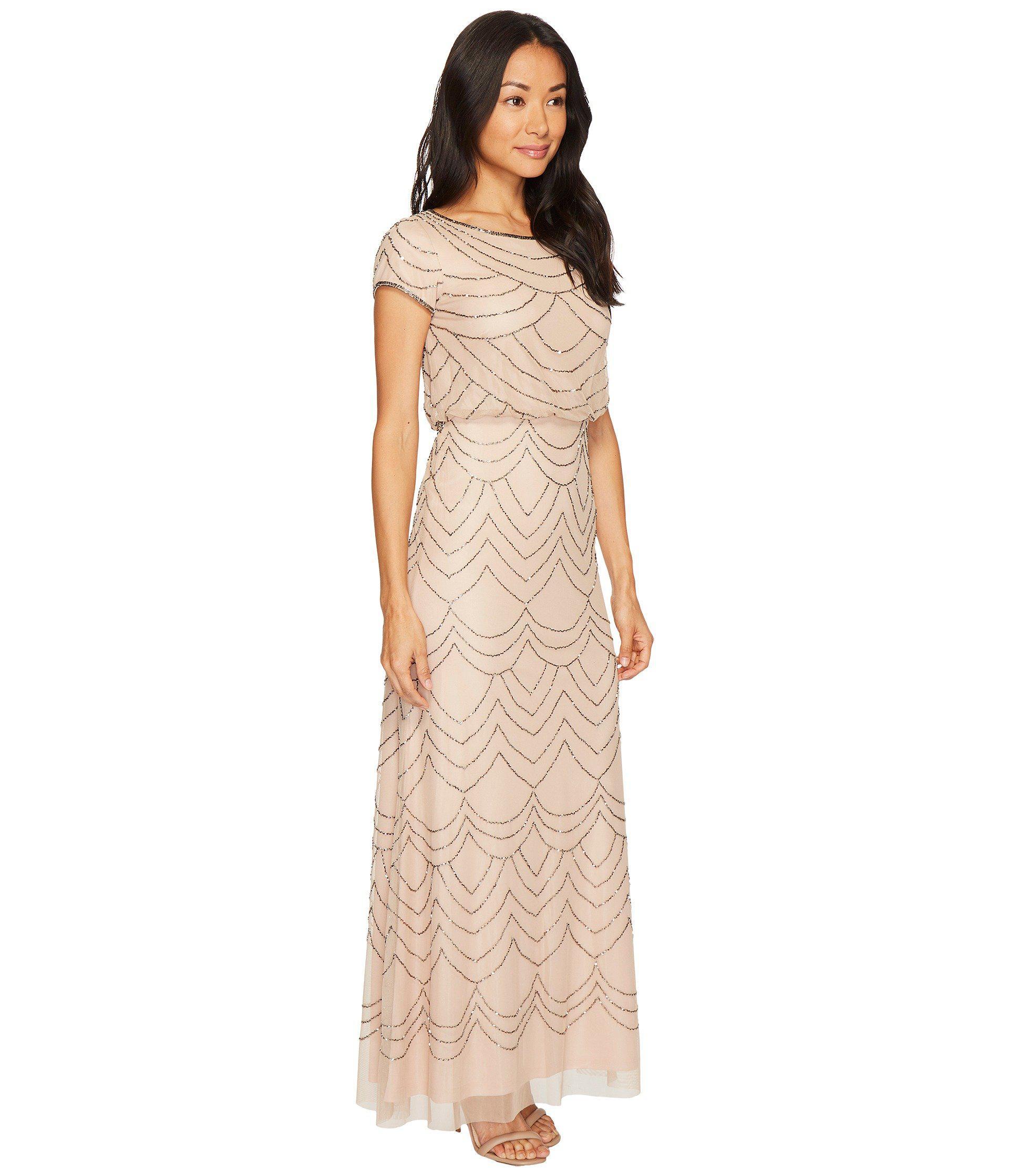 Adrianna Papell Petite Taffeta Blouse Gown | Lauren Goss