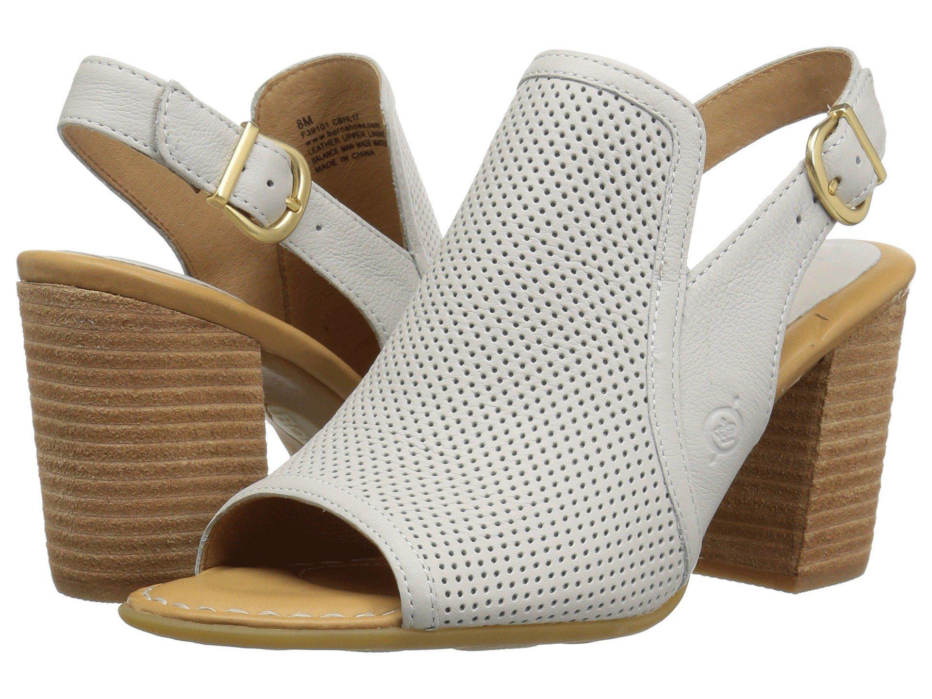 Sutra Perf Slingback Peep-Toe Block Heel Sandals yaOOx9O