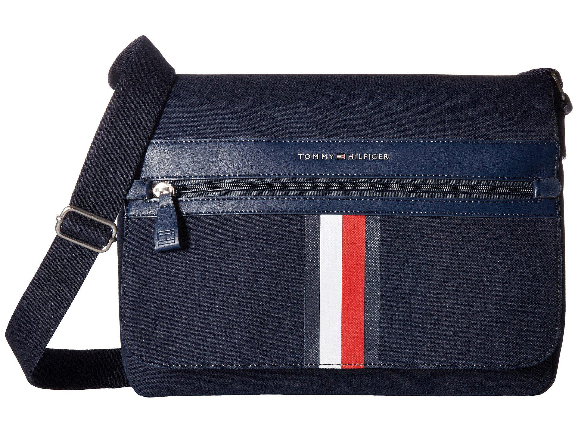 Lyst - Tommy Hilfiger Icon Messenger Canvas in Blue for Men bec946b6be