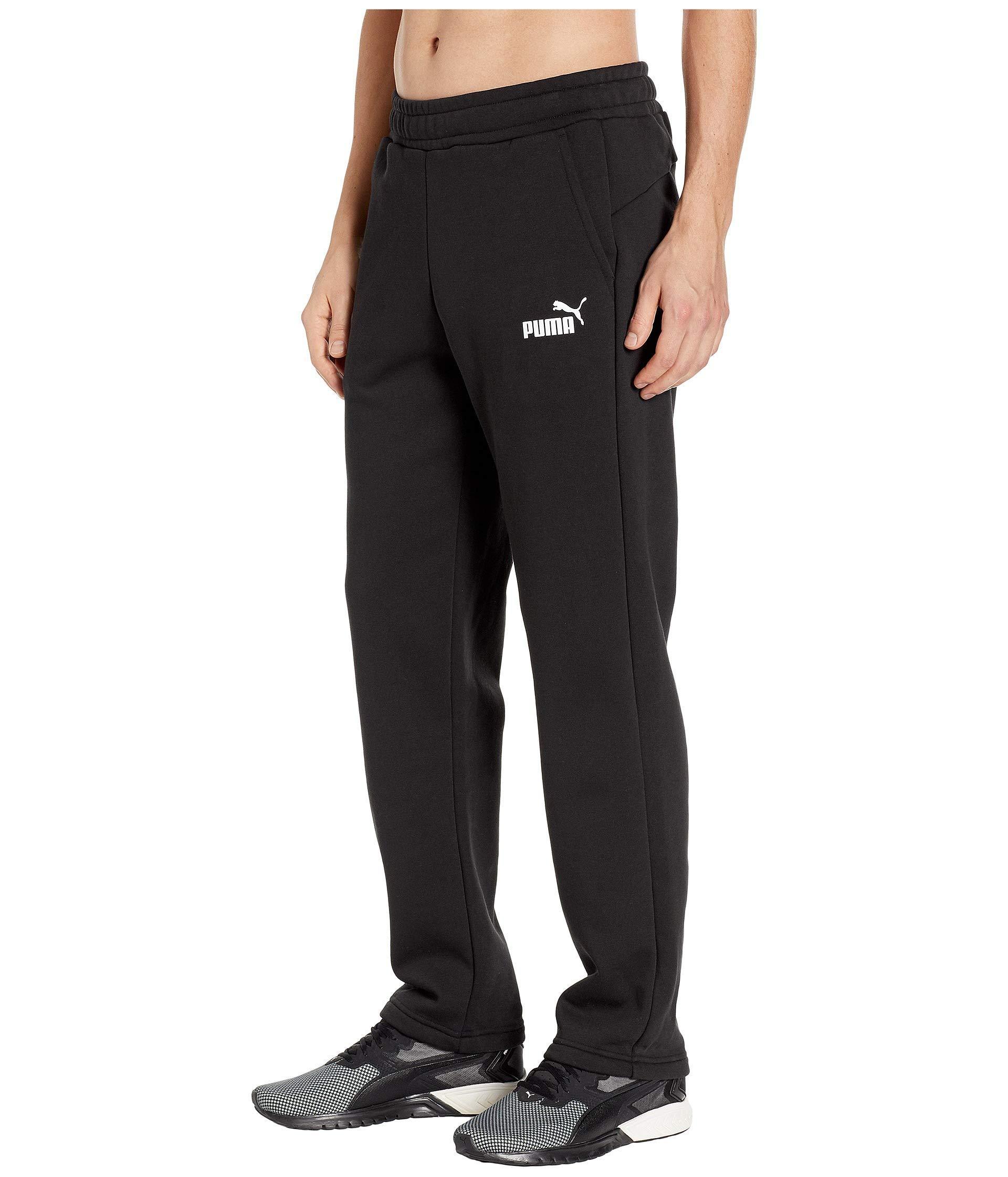 e3bf38a1c060 Lyst - PUMA Ess Logo Pants in Black for Men