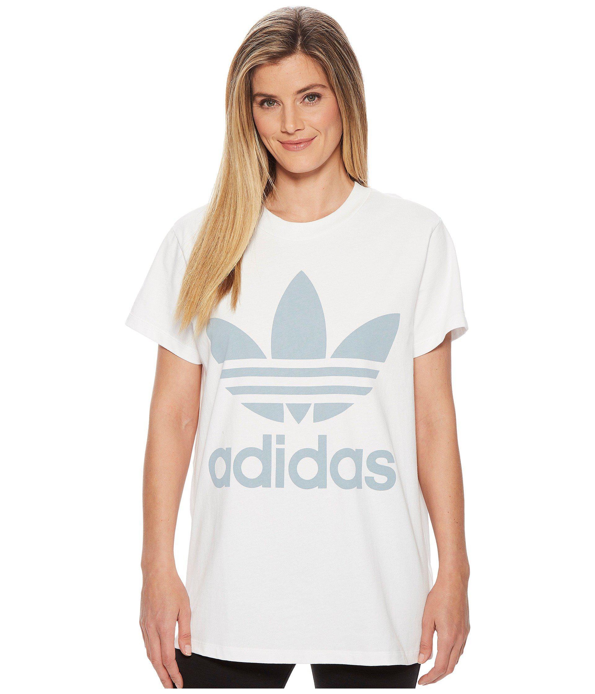 511058b59b6 adidas Originals Big Trefoil Tee in White - Lyst